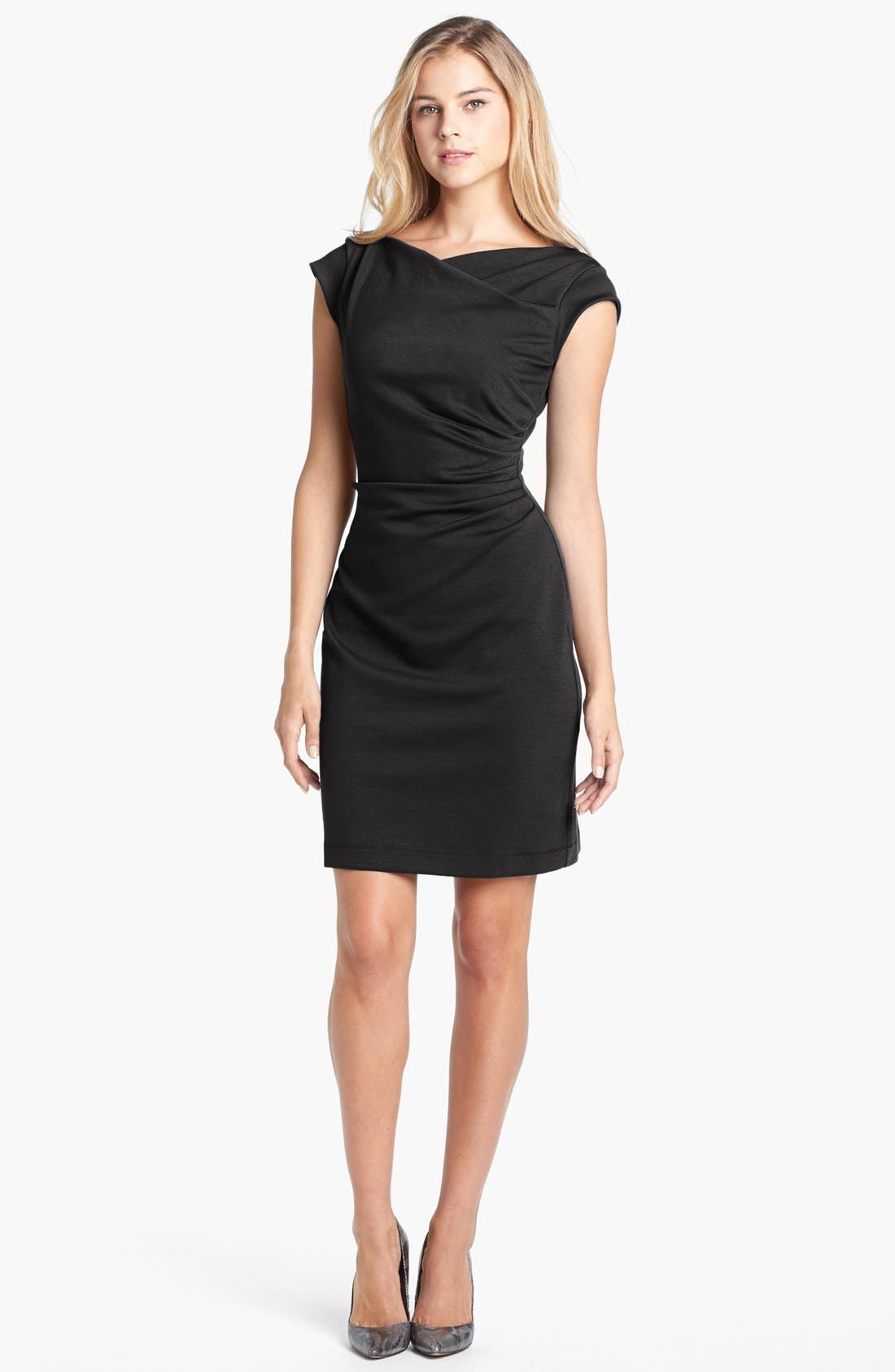Main Image - Taylor Dresses Cowl Neck Sheath Dress
