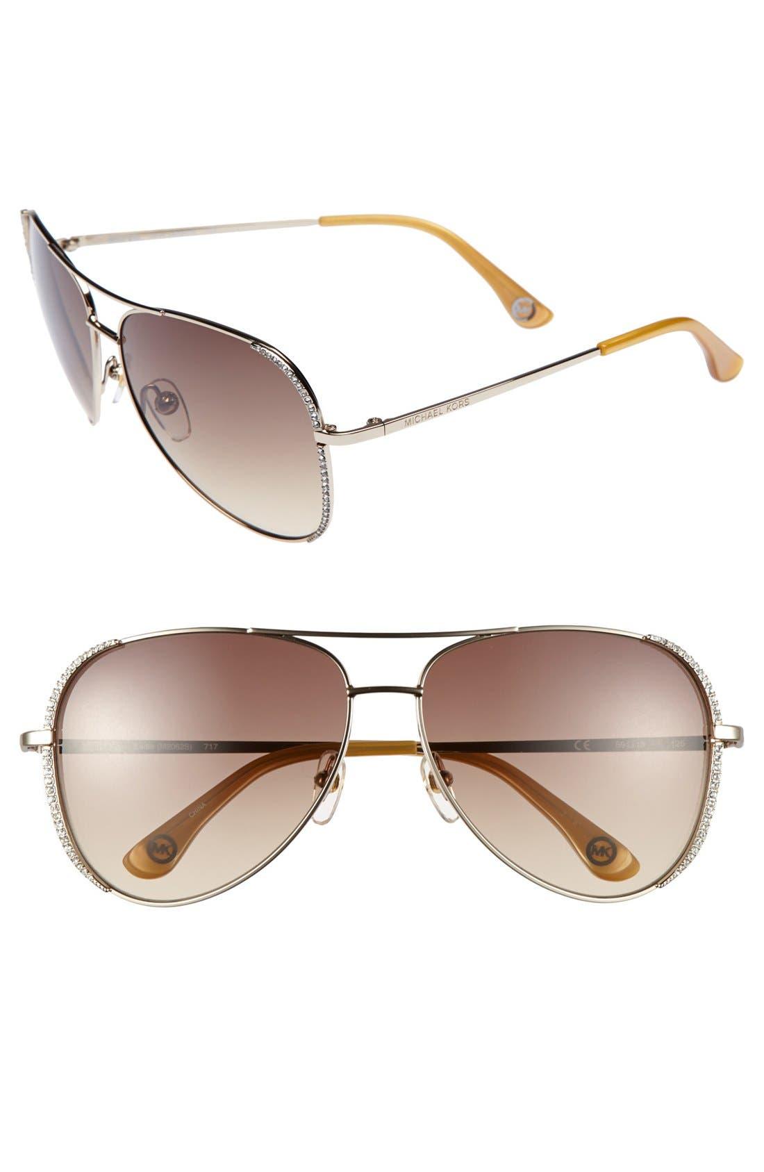 Main Image - Gucci 56mm Oversized Sunglasses
