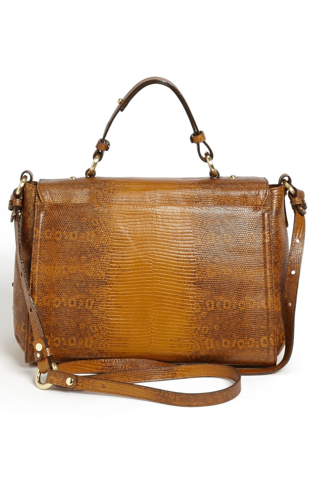 Alternate Image 4  - Brahmin 'Oxford' Lizard Embossed Flap Satchel