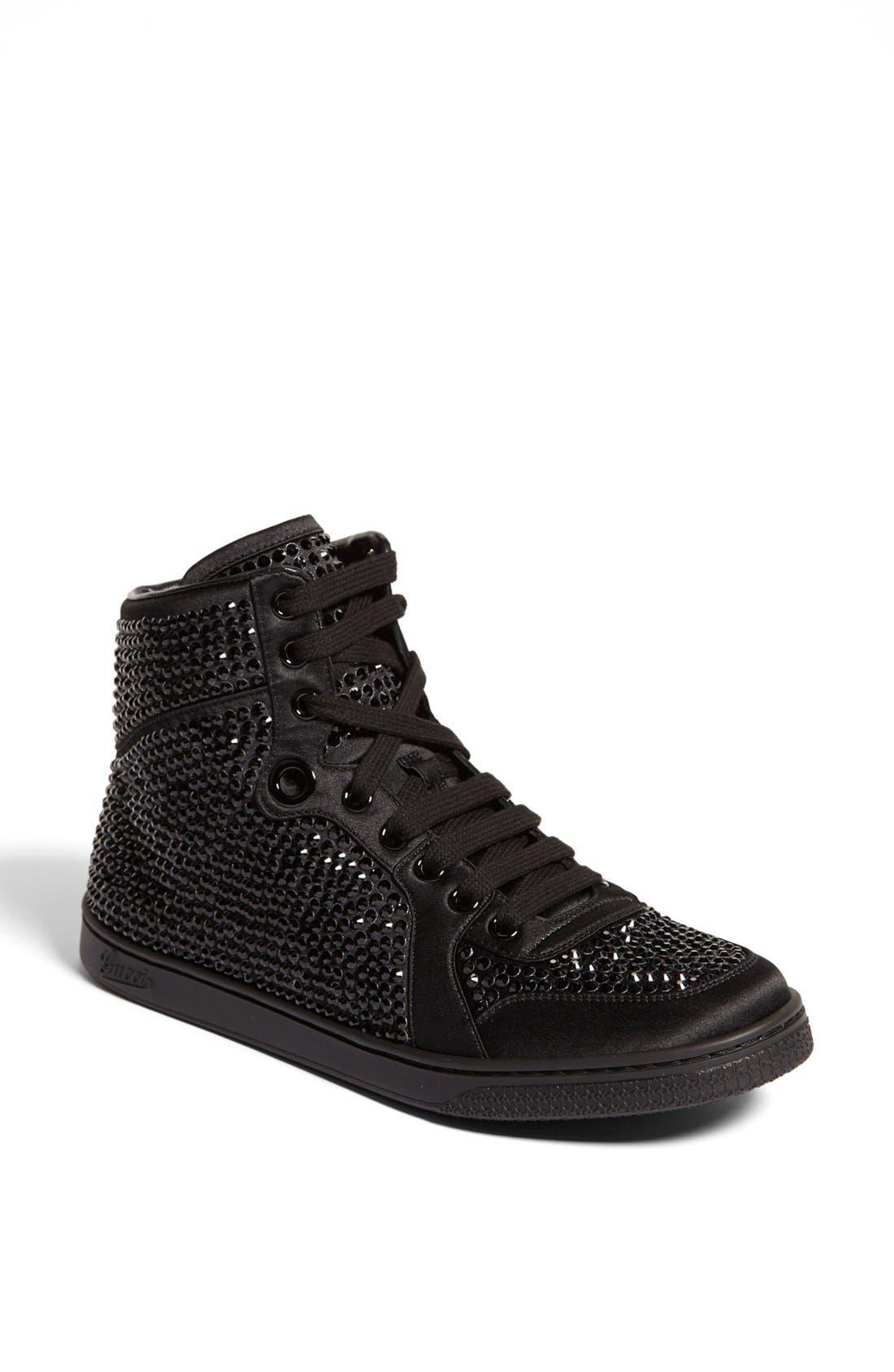 Main Image - Gucci 'Coda' Crystal Stud High Top Sneaker