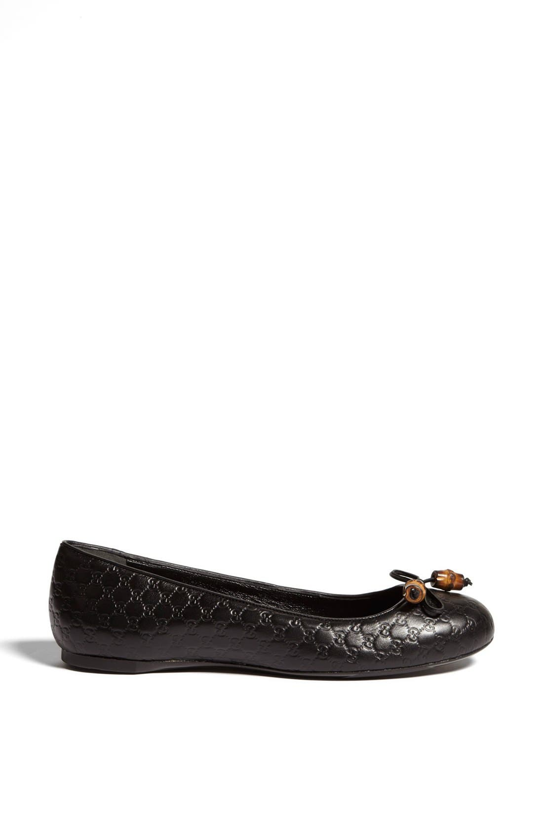 Alternate Image 4  - Gucci 'Sylvie' Bamboo Bow Ballet Flat