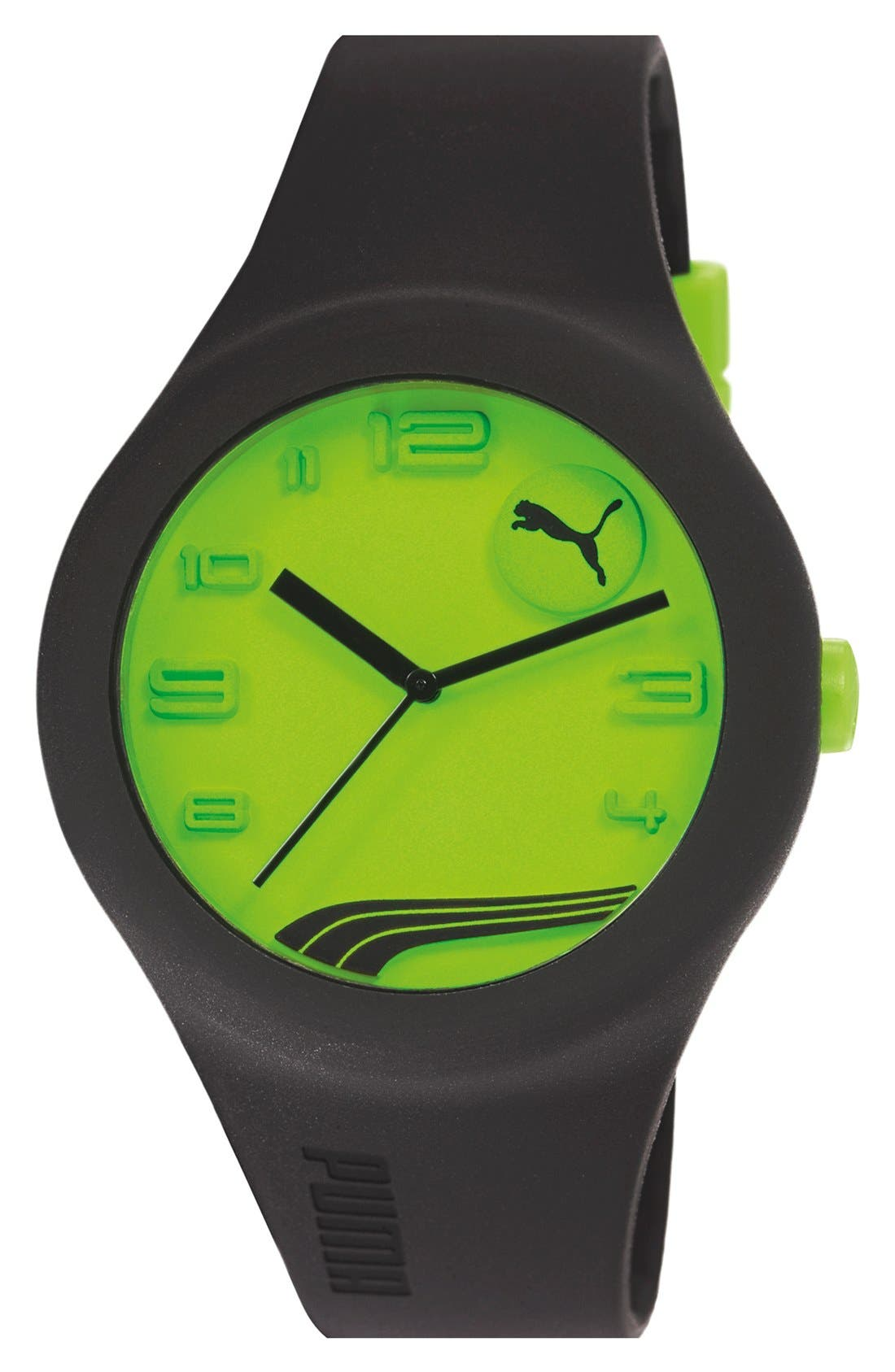 Main Image - PUMA 'Form' Neon Dial Silicone Strap Watch, 44mm