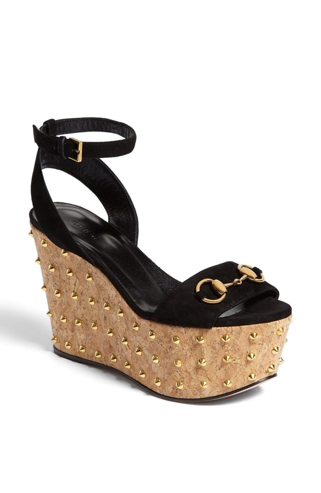 Alternate Image 1 Selected - Gucci 'Liliane' Studded Platform Sandal