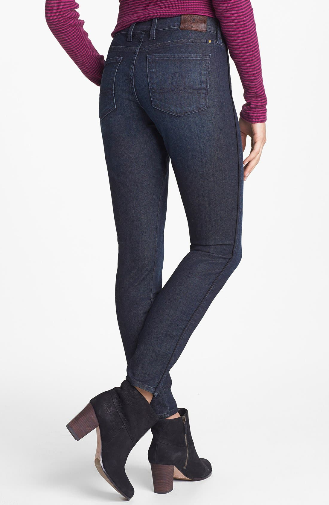 Alternate Image 3  - Lucky Brand 'Sofia' Tuxedo Piped Skinny Jeans (Cullowhee)