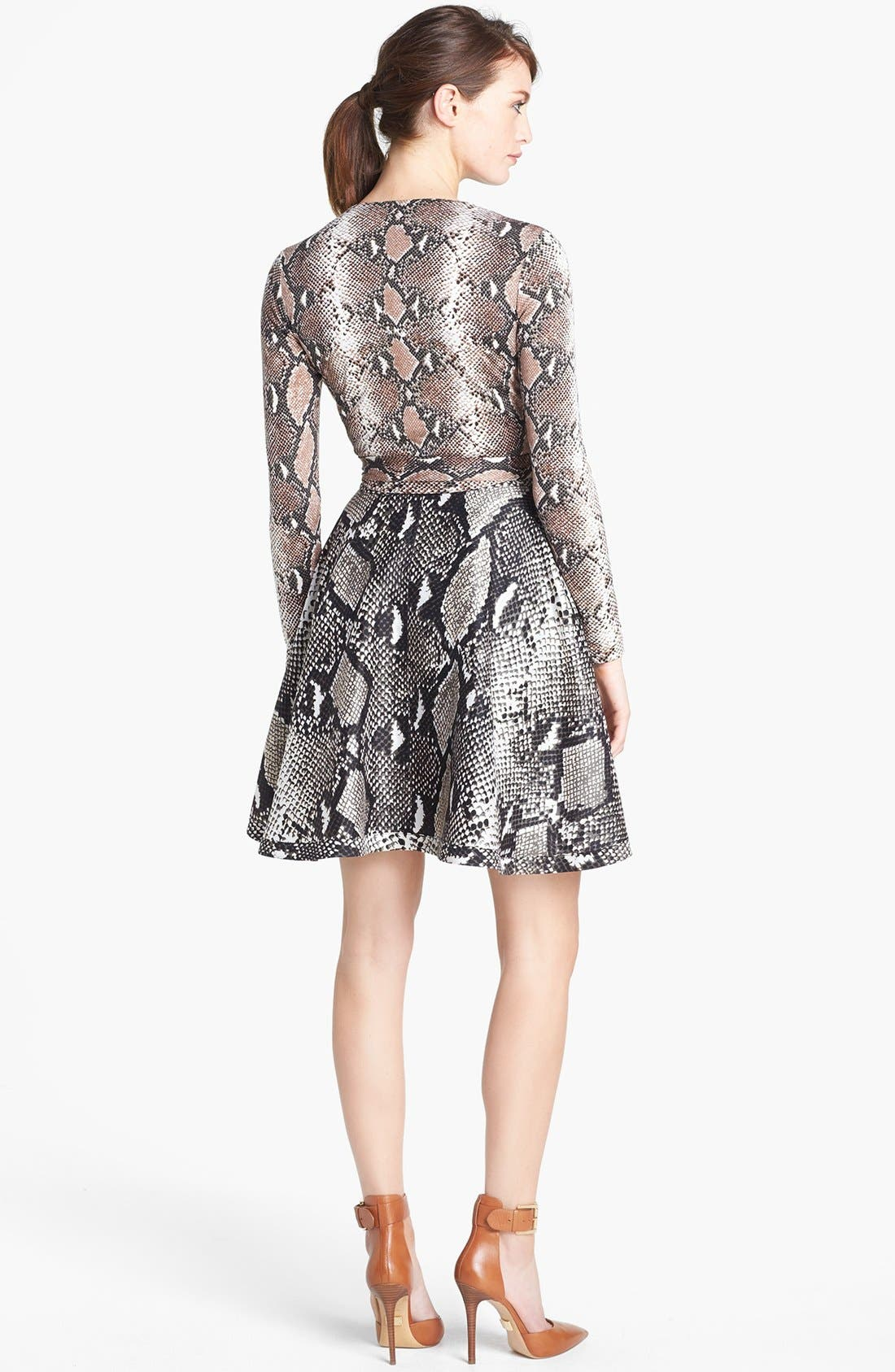Alternate Image 2  - Diane von Furstenberg 'Amelia' Knit Silk Wrap Dress