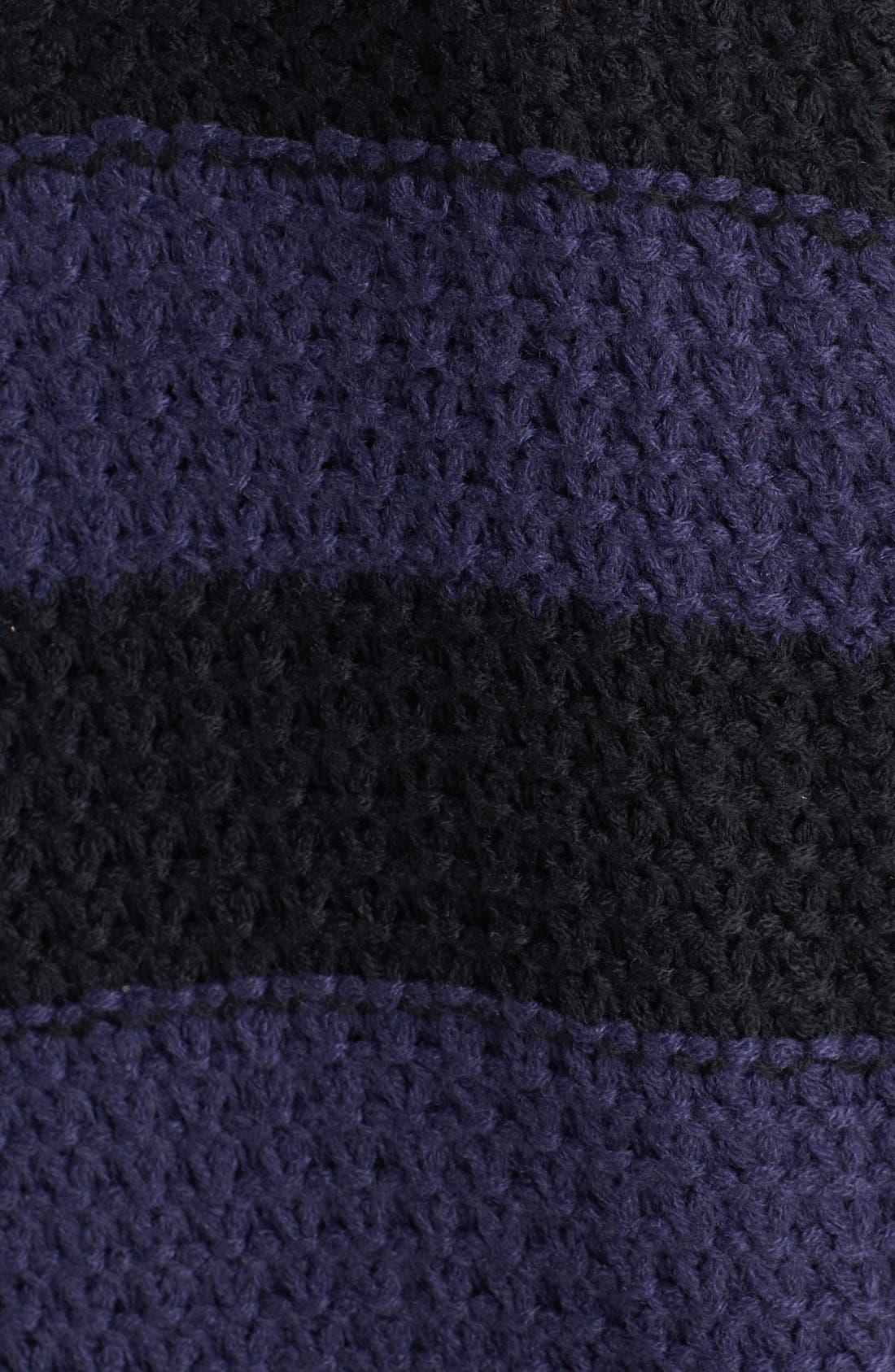 Alternate Image 3  - Rubbish® Stripe Cabled Sweater (Juniors)