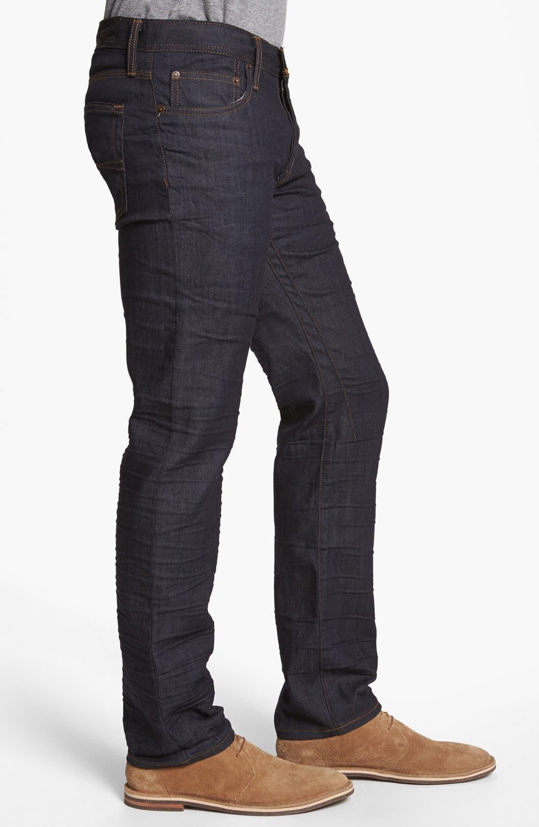 Alternate Image 3  - Rogue 'Ruffian' Slim Straight Leg Jeans (Dark Blue)
