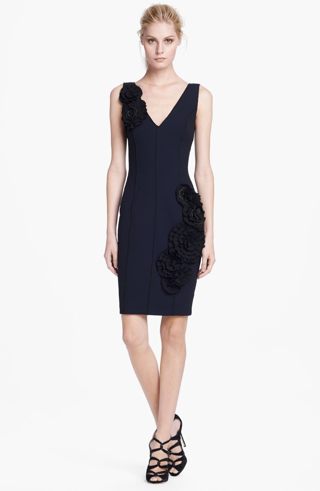 Alternate Image 1 Selected - Tracy Reese Rose Detail Sheath Dress