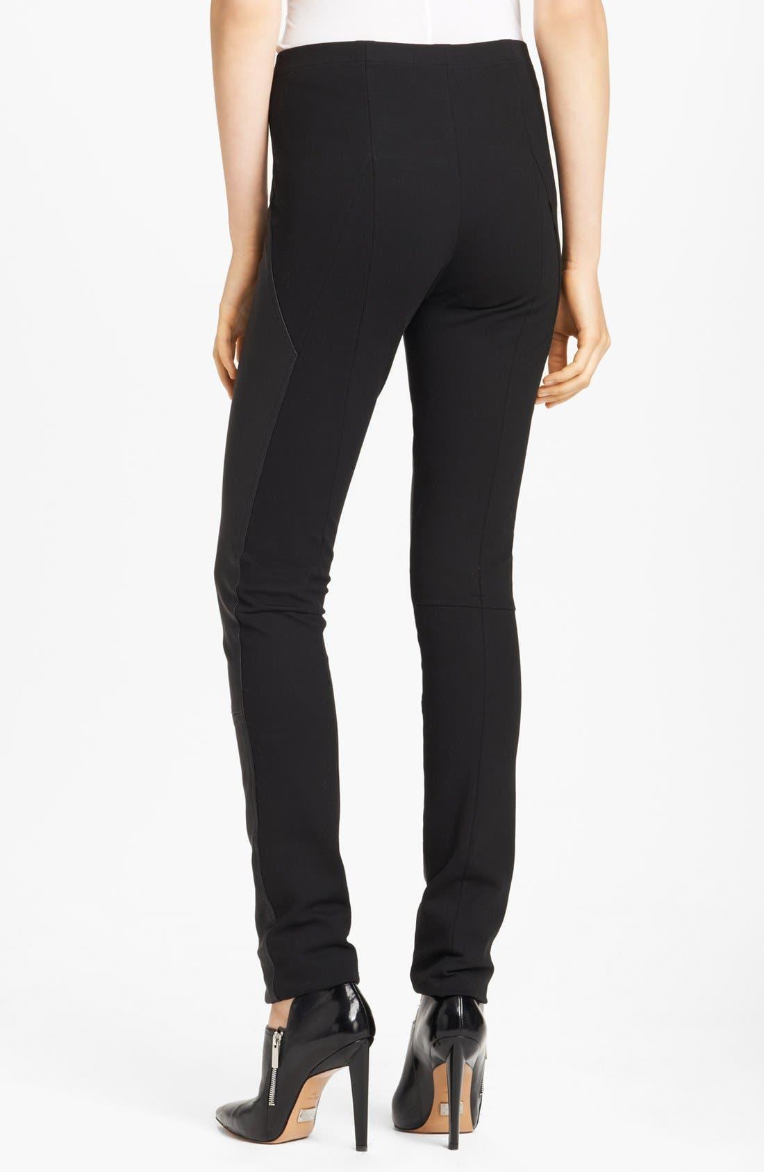 Alternate Image 2  - Donna Karan Collection Skinny Leather & Jersey Pants