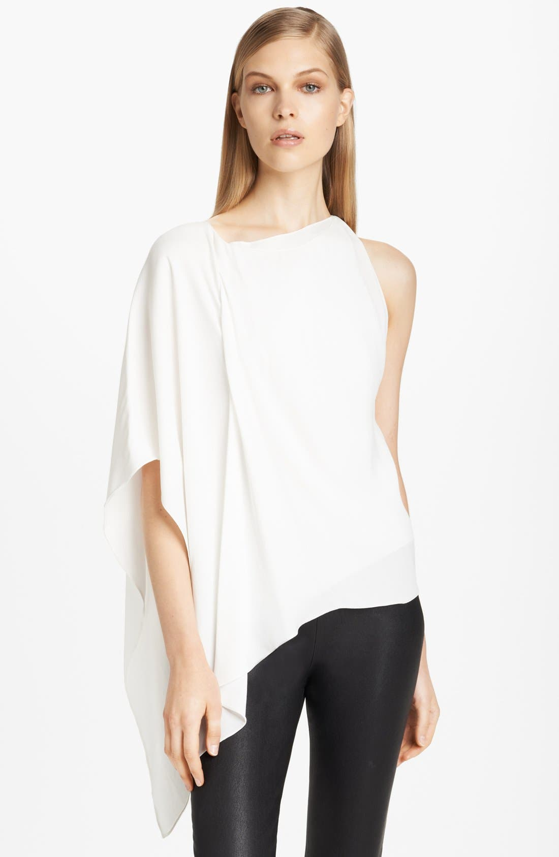 Alternate Image 1 Selected - Donna Karan Collection Asymmetrical Matte Crepe Blouse