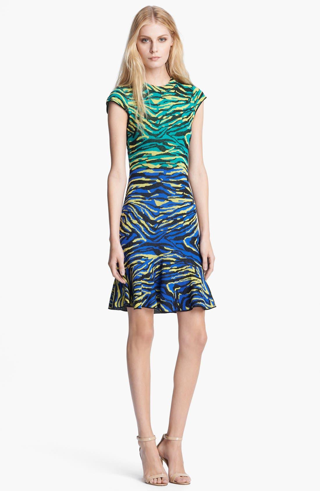 Alternate Image 1 Selected - M Missoni Zebra Jacquard Dress