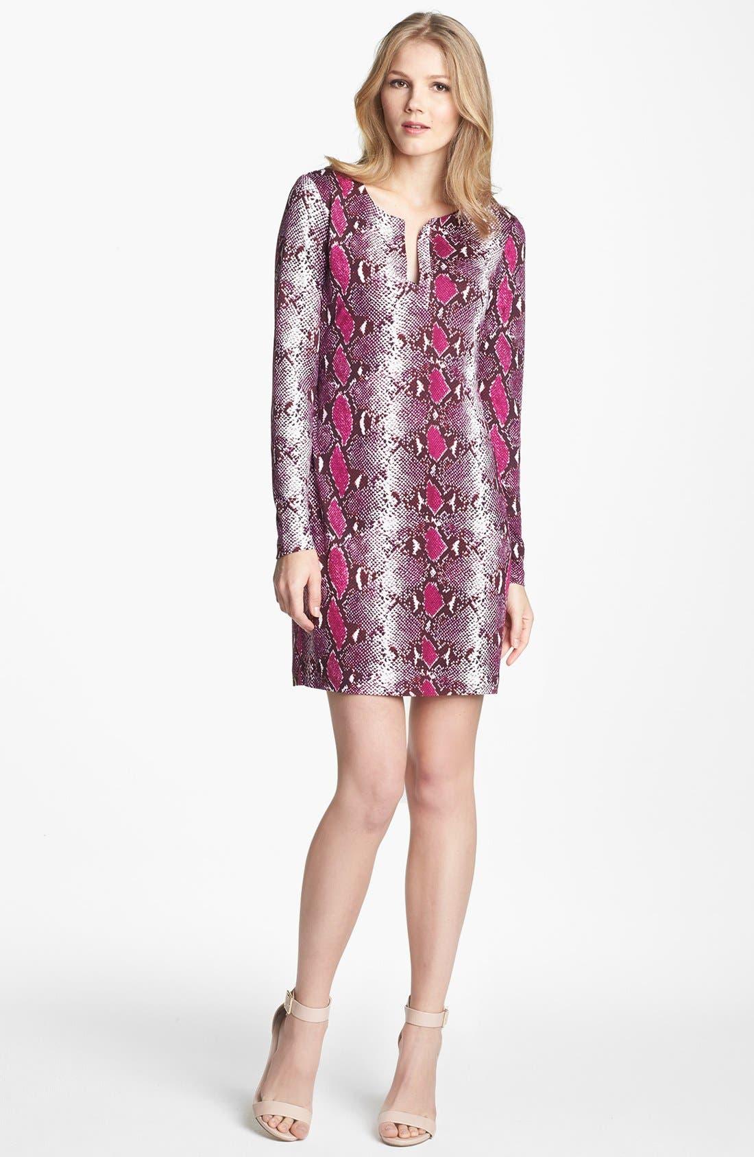 Main Image - Diane von Furstenberg 'Reina' Snake Print Silk Shift Dress