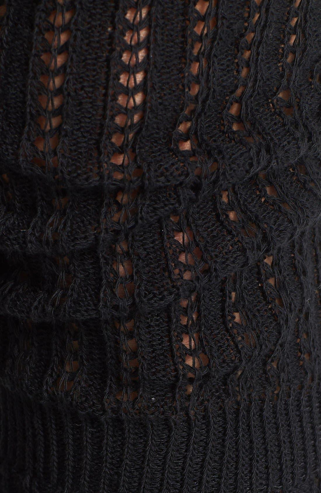 Alternate Image 2  - Hue 'Crochet Slouch' Over the Knee Socks