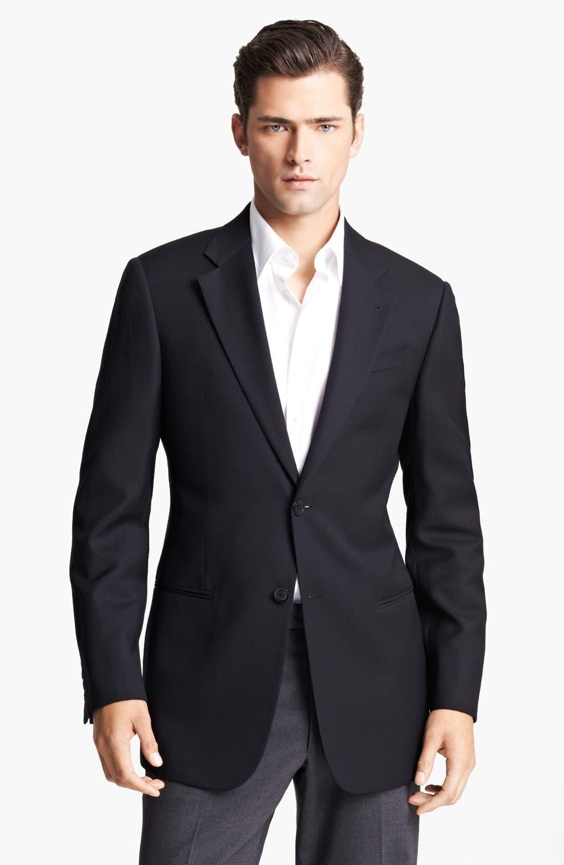 Main Image - Armani Collezioni Trim Fit Wool Sportcoat