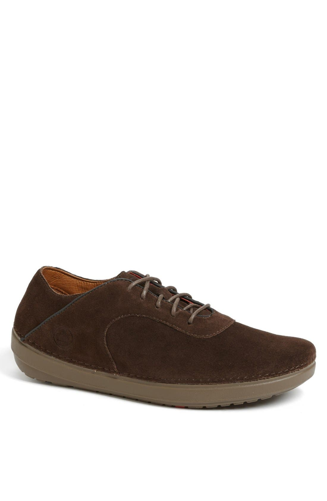 Alternate Image 1 Selected - FitFlop 'Flex™' Suede Sneaker (Men)