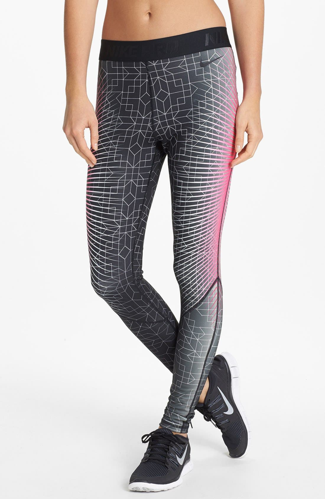 Alternate Image 1 Selected - Nike 'Pro Hyperwarm' Print Tights