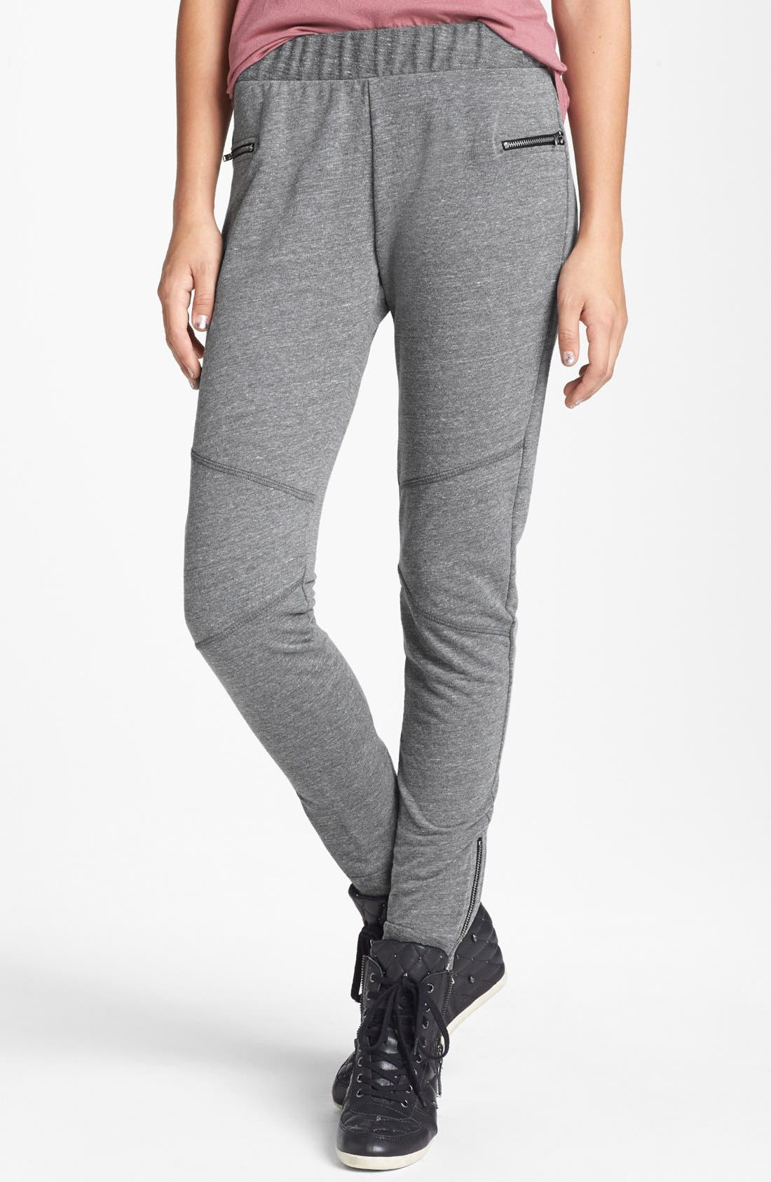 Main Image - Lily White Slouchy Knit Pants (Juniors)