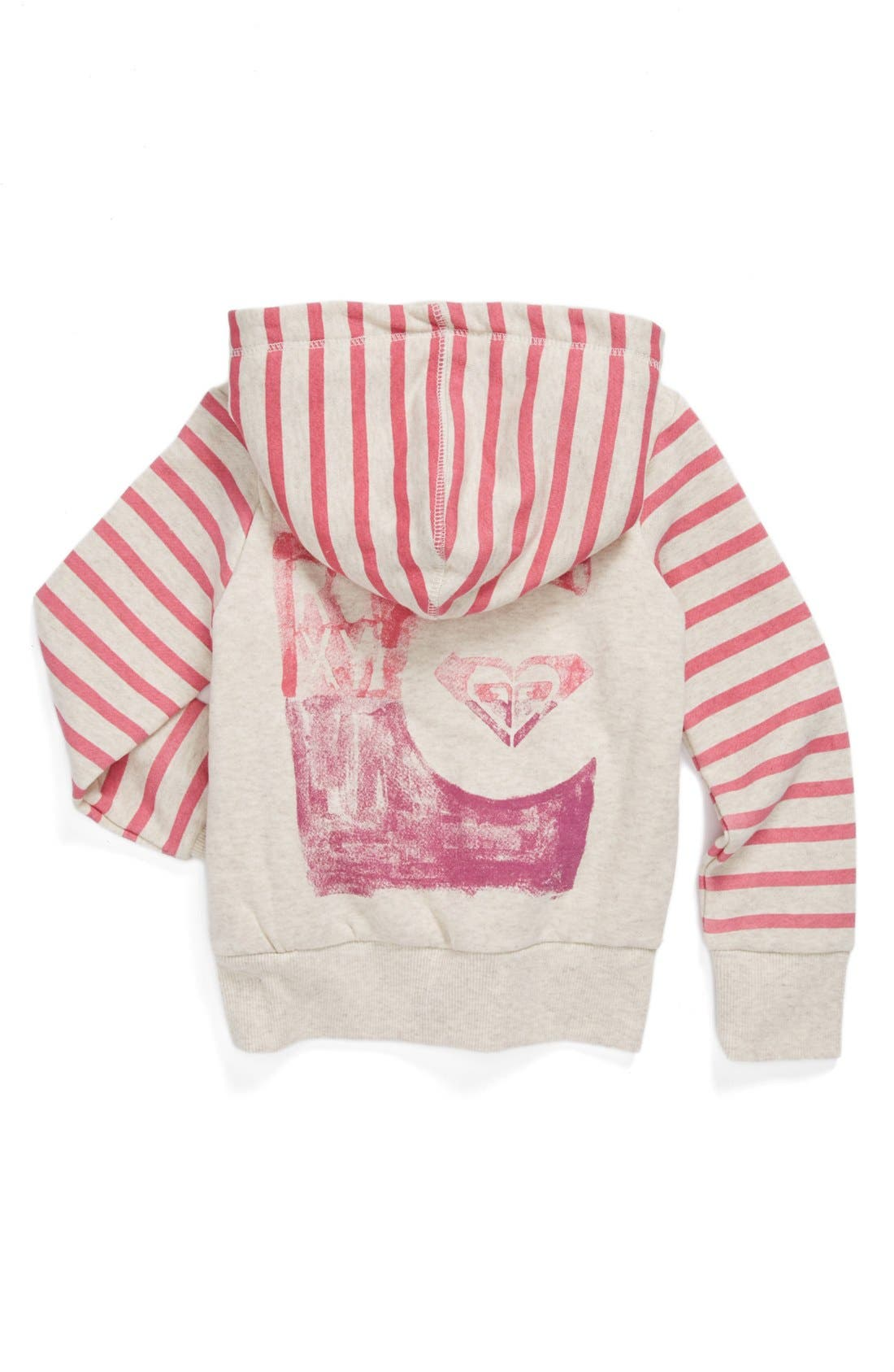 Alternate Image 2  - Roxy 'Wild Awake' Full Zip Lined Hoodie (Little Girls)