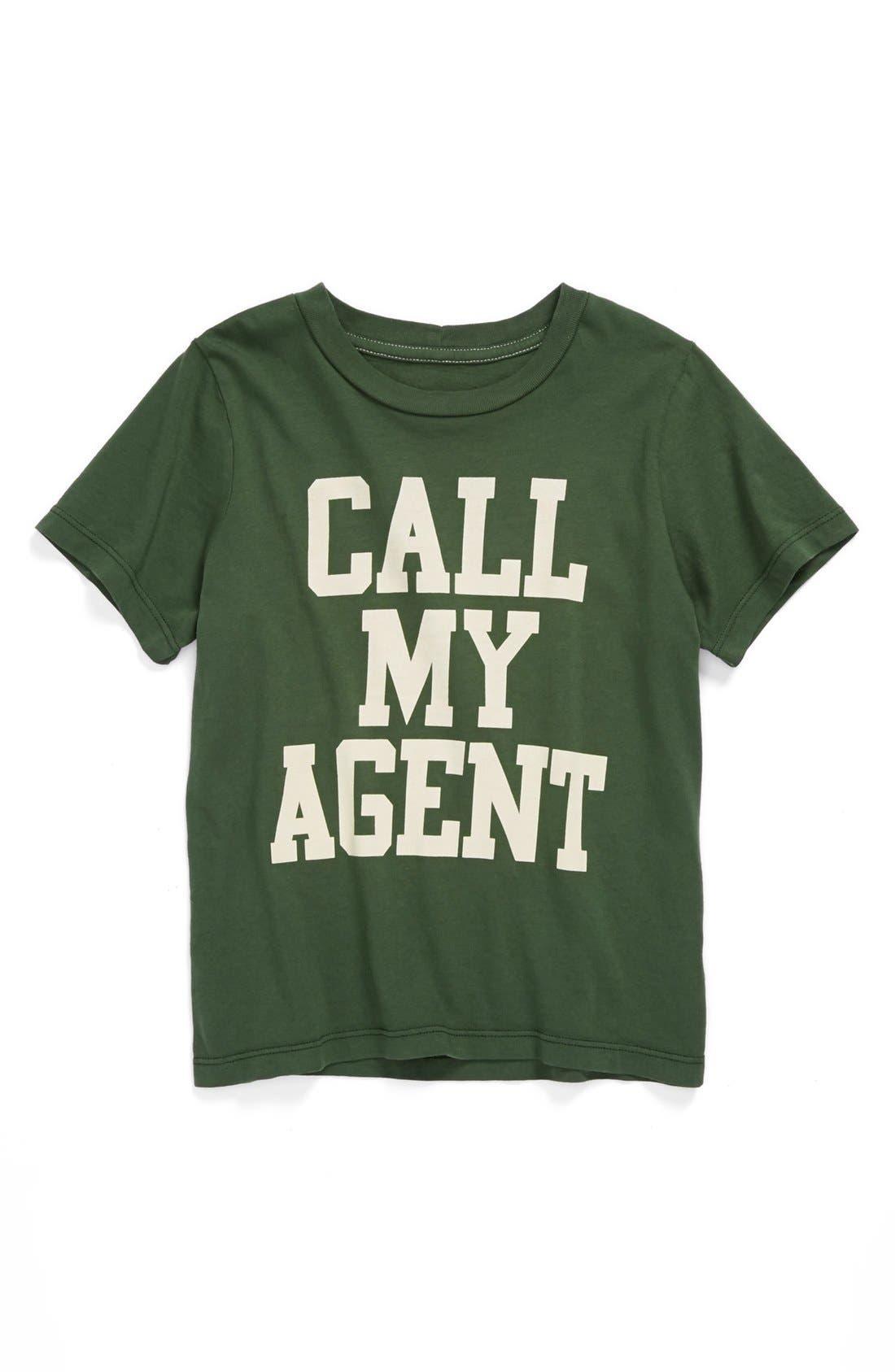 Alternate Image 1 Selected - Peek 'Call My Agent' T-Shirt (Toddler Boys, Little Boys & Big Boys)
