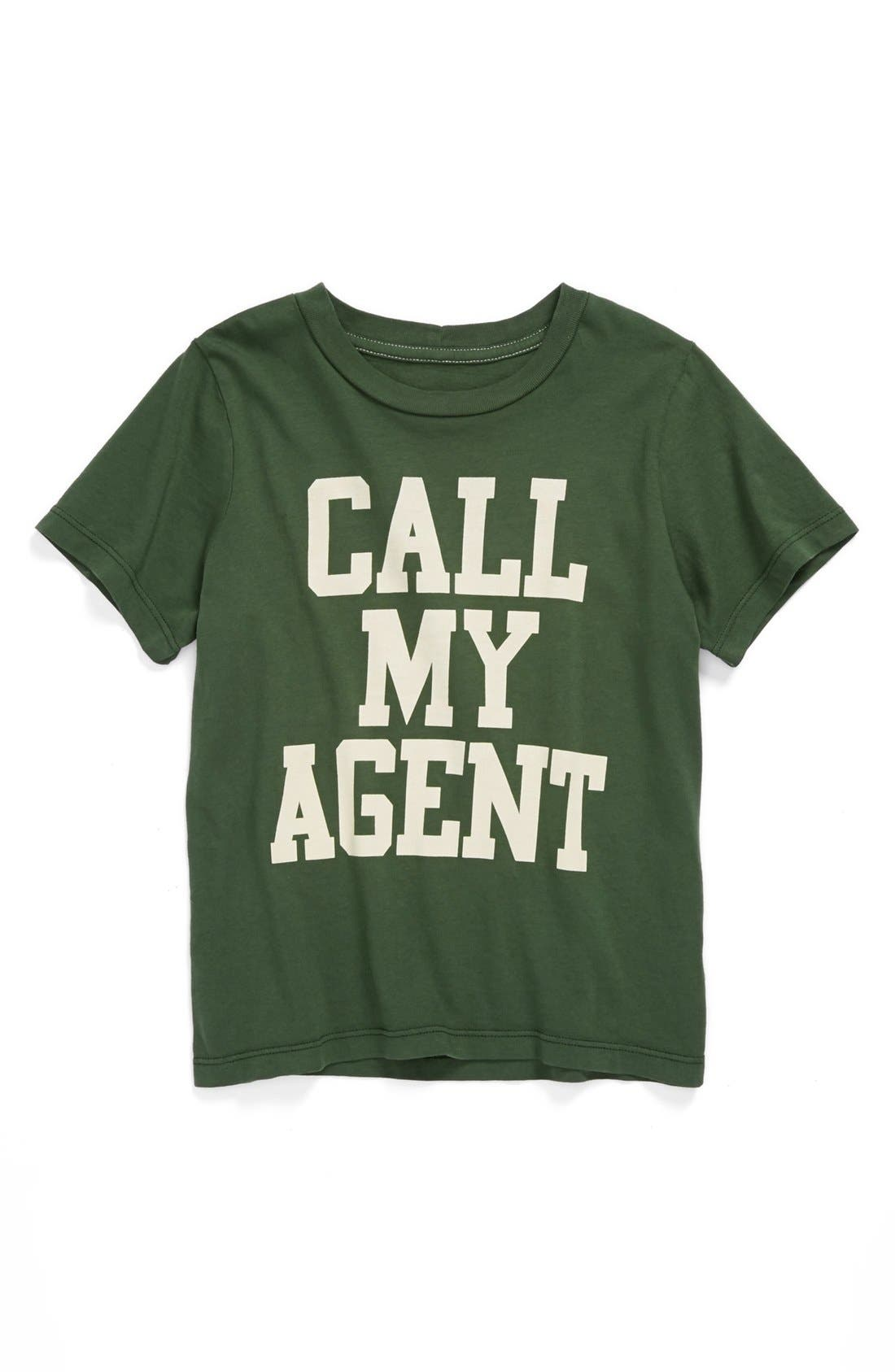 Main Image - Peek 'Call My Agent' T-Shirt (Toddler Boys, Little Boys & Big Boys)