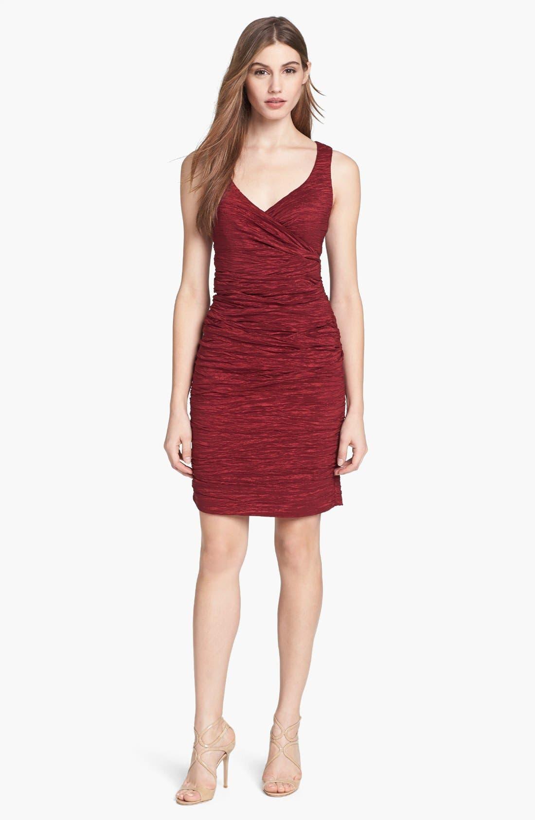 Alternate Image 1 Selected - Calvin Klein Crinkled Taffeta Sheath Dress