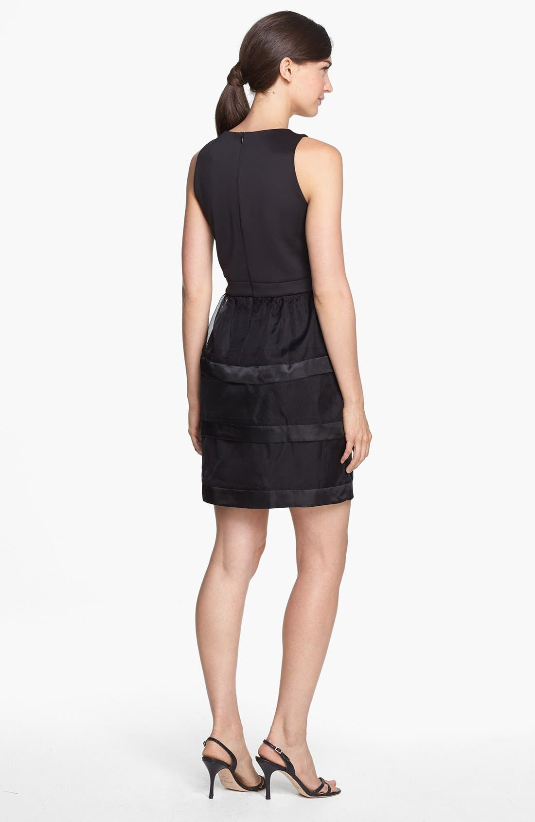 Alternate Image 2  - Taylor Dresses Tiered Fit & Flare Dress