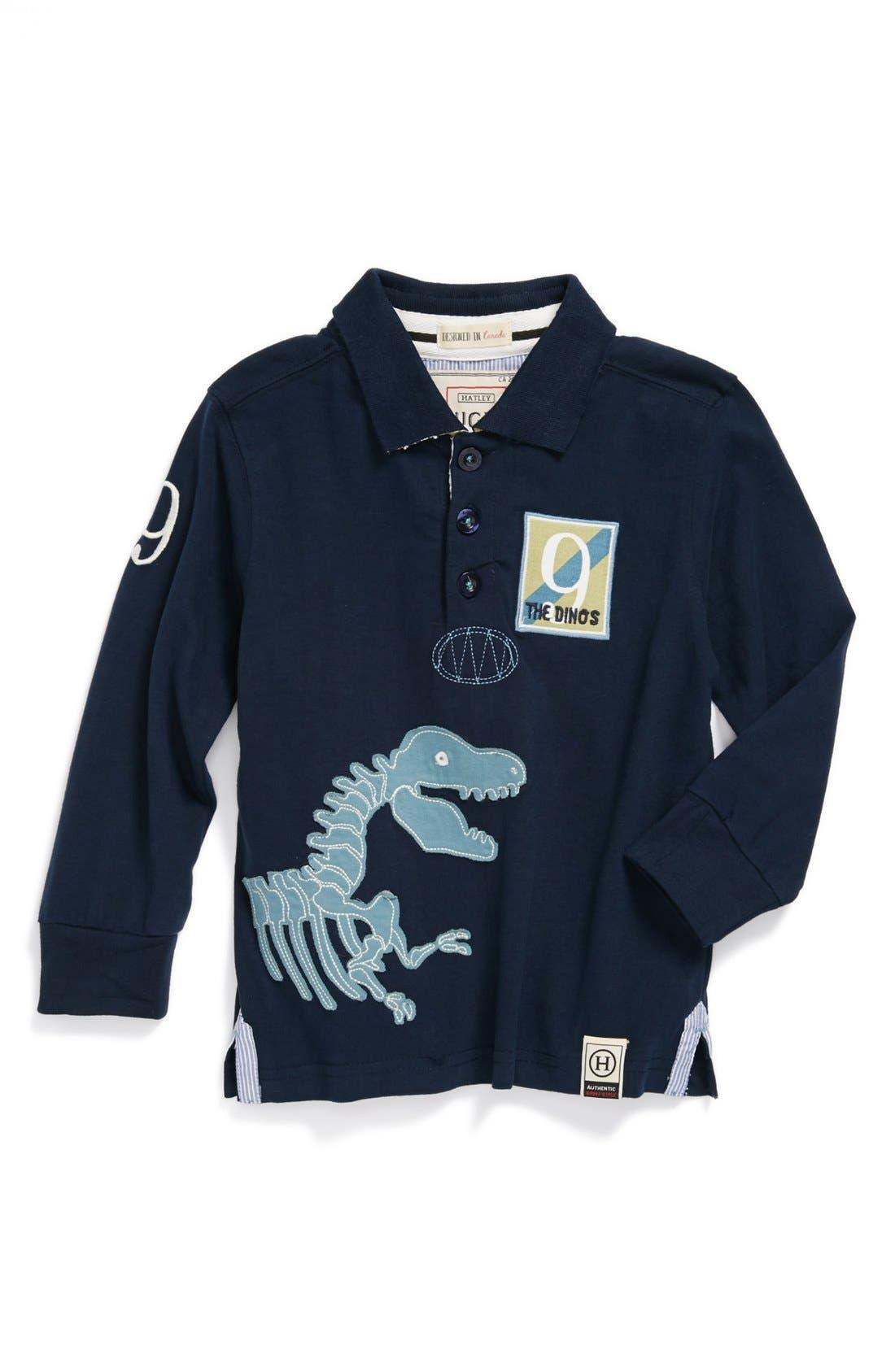 Main Image - Hatley 'Dino' Rugby Shirt (Toddler Boys)