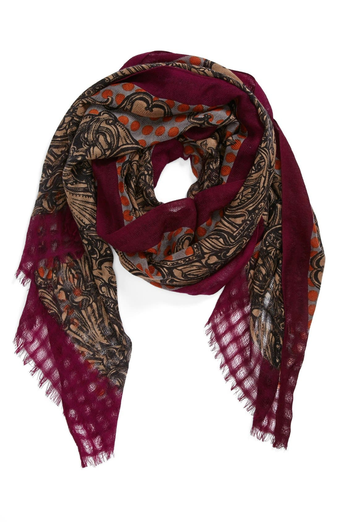 Alternate Image 1 Selected - Nordstrom 'Spaced Scroll' Wool Scarf