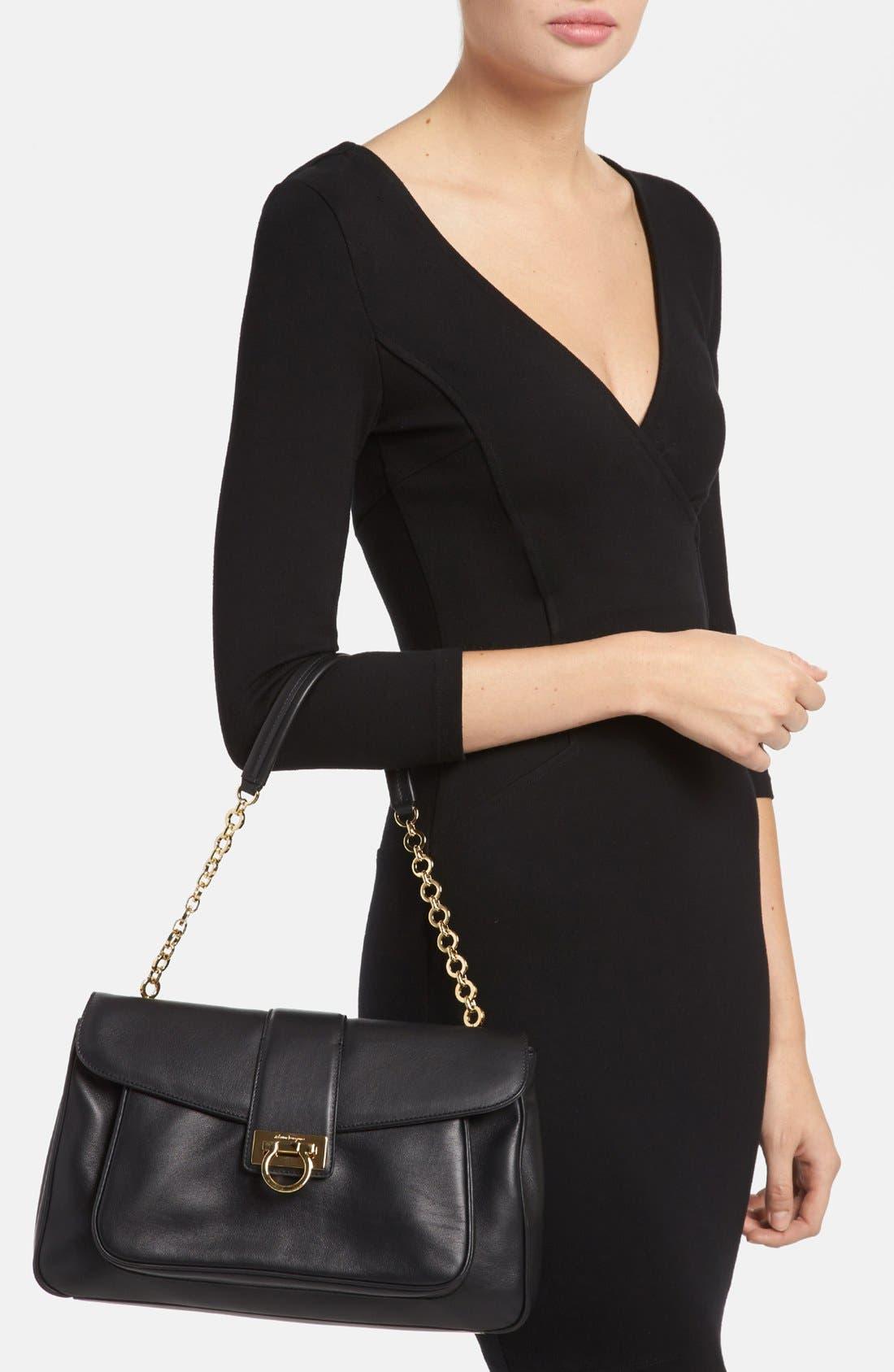 Alternate Image 2  - Salvatore Ferragamo 'Paula' Leather Shoulder Bag