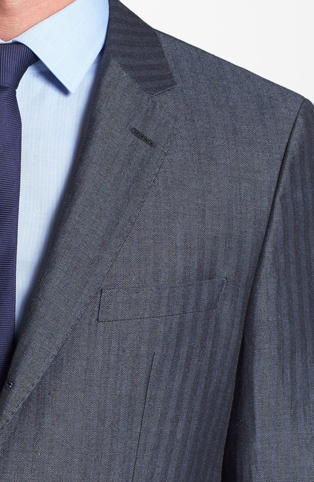 Alternate Image 3  - BOSS HUGO BOSS 'Johnston' Trim Fit Herringbone Sportcoat
