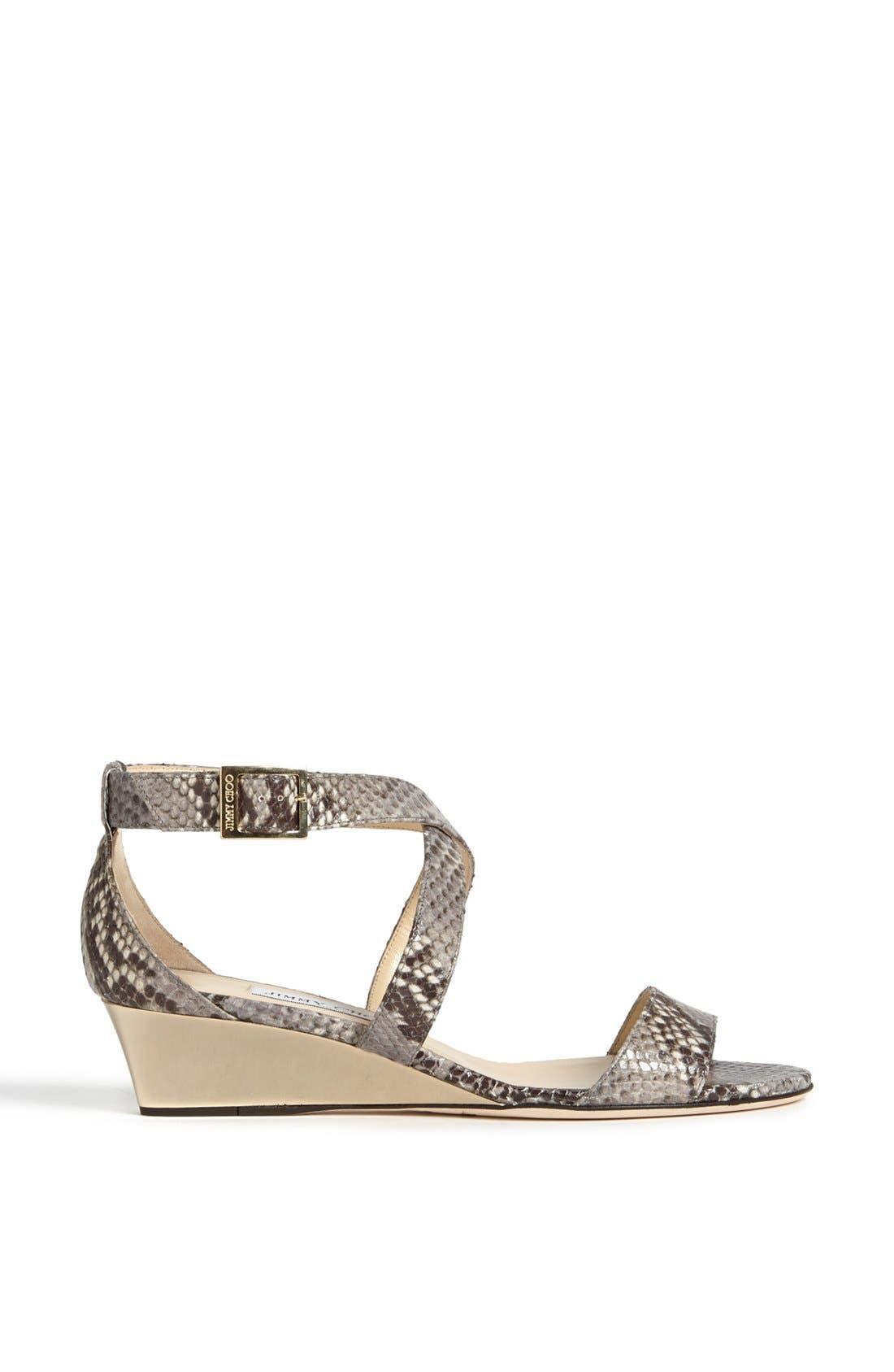 Alternate Image 4  - Jimmy Choo 'Chiara' Wedge Sandal