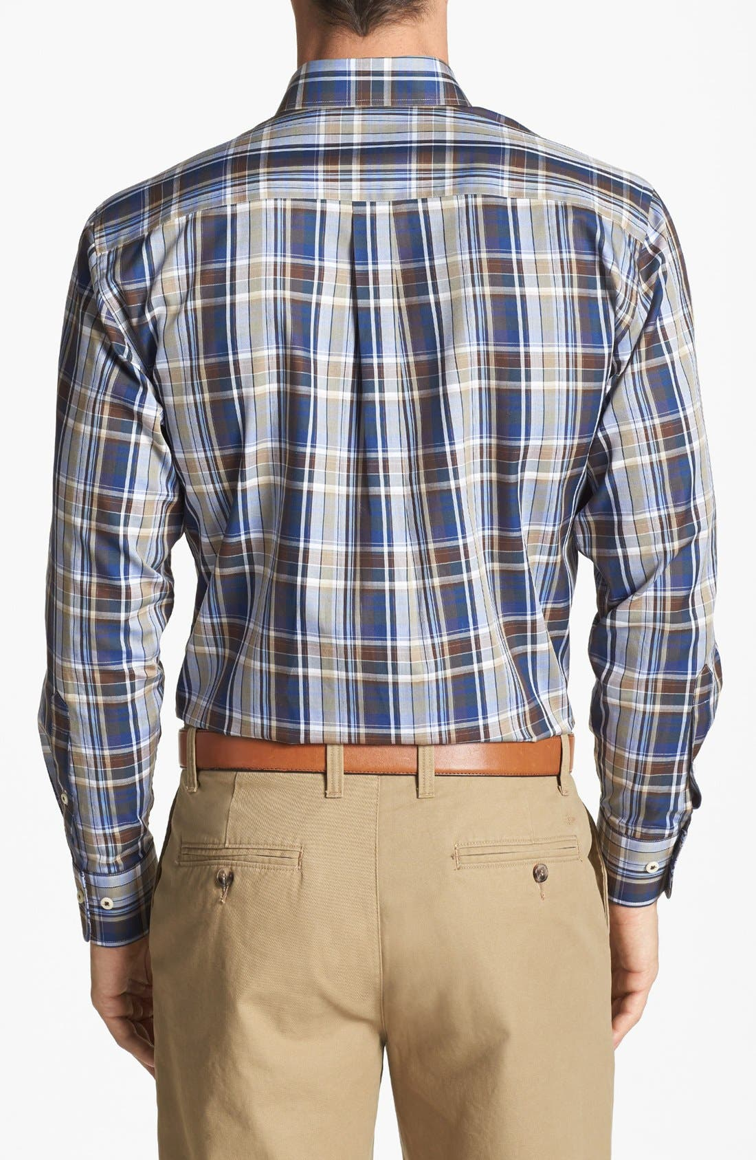 Alternate Image 2  - Peter Millar Plaid Sport Shirt (Tall)