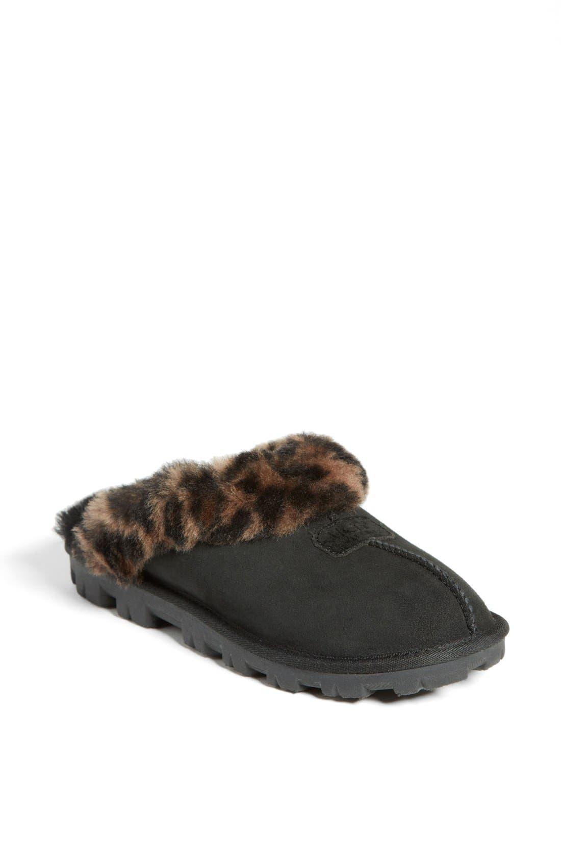 Alternate Image 1 Selected - UGG® Leopard Spot Slipper (Women)