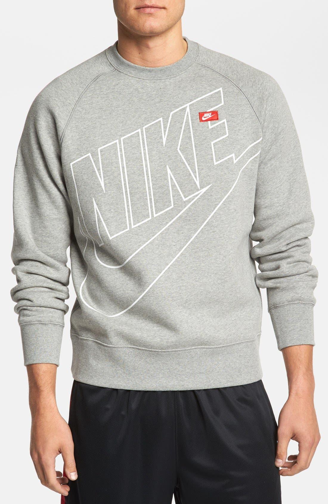 Alternate Image 1 Selected - Nike 'Ace' Fleece Crewneck Sweatshirt