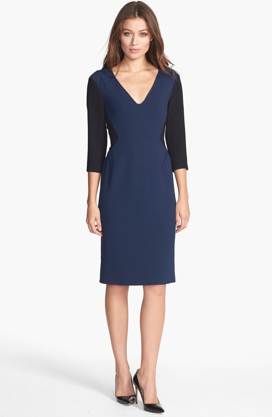 Main Image - Rachel Roy Colorblock Crepe Sheath Dress