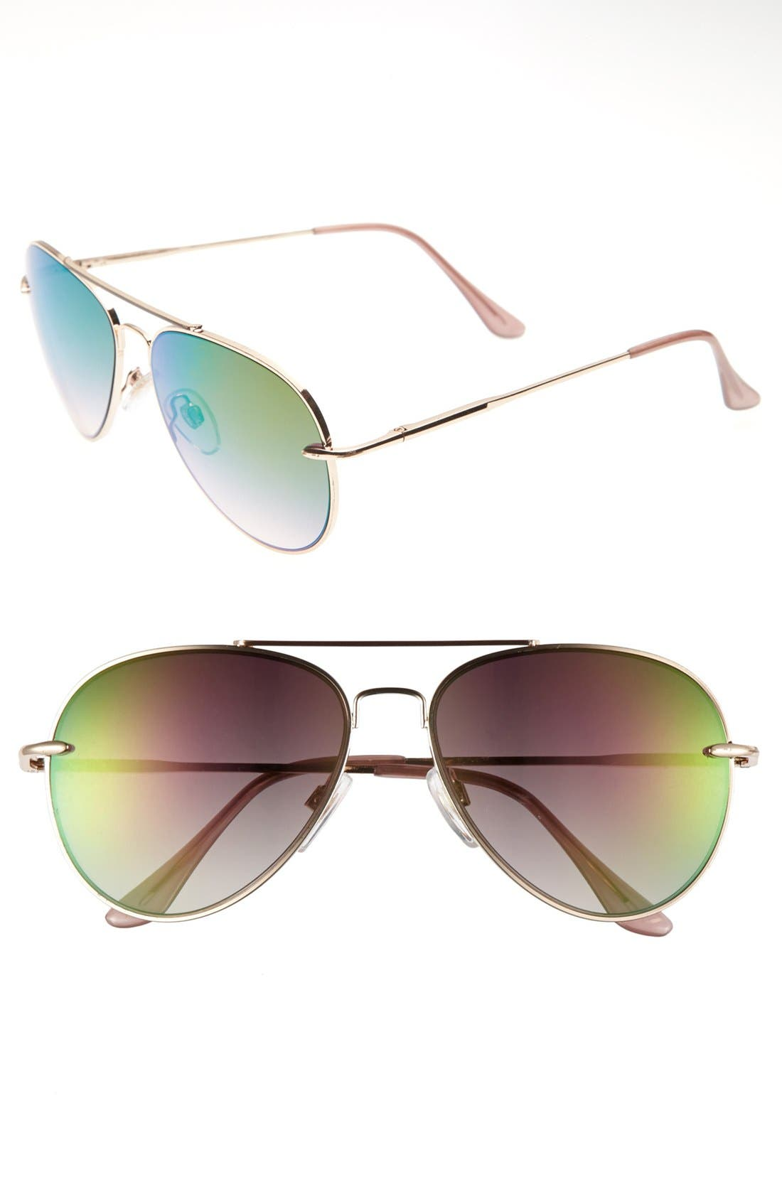 Alternate Image 1 Selected - Topshop 'The Collection Starring Kate Bosworth' Aviator Sunglasses