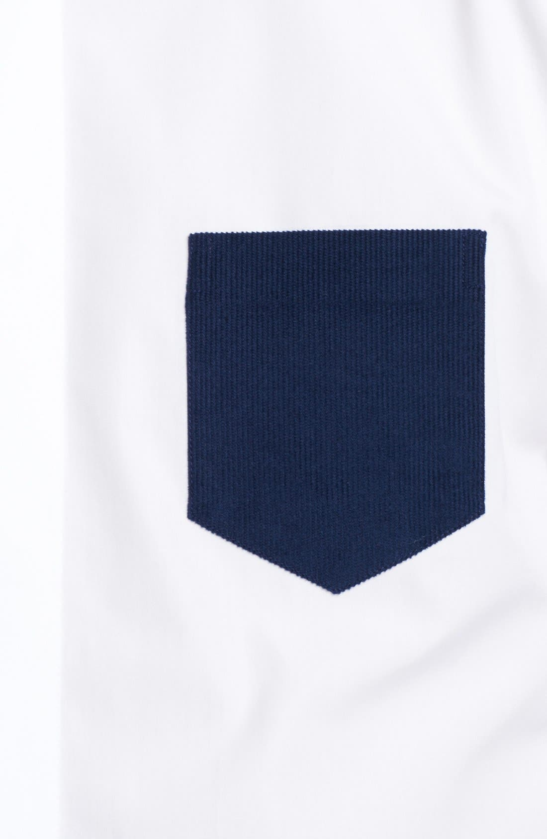 Alternate Image 3  - Neil Barrett Corduroy Colorblock Shirt