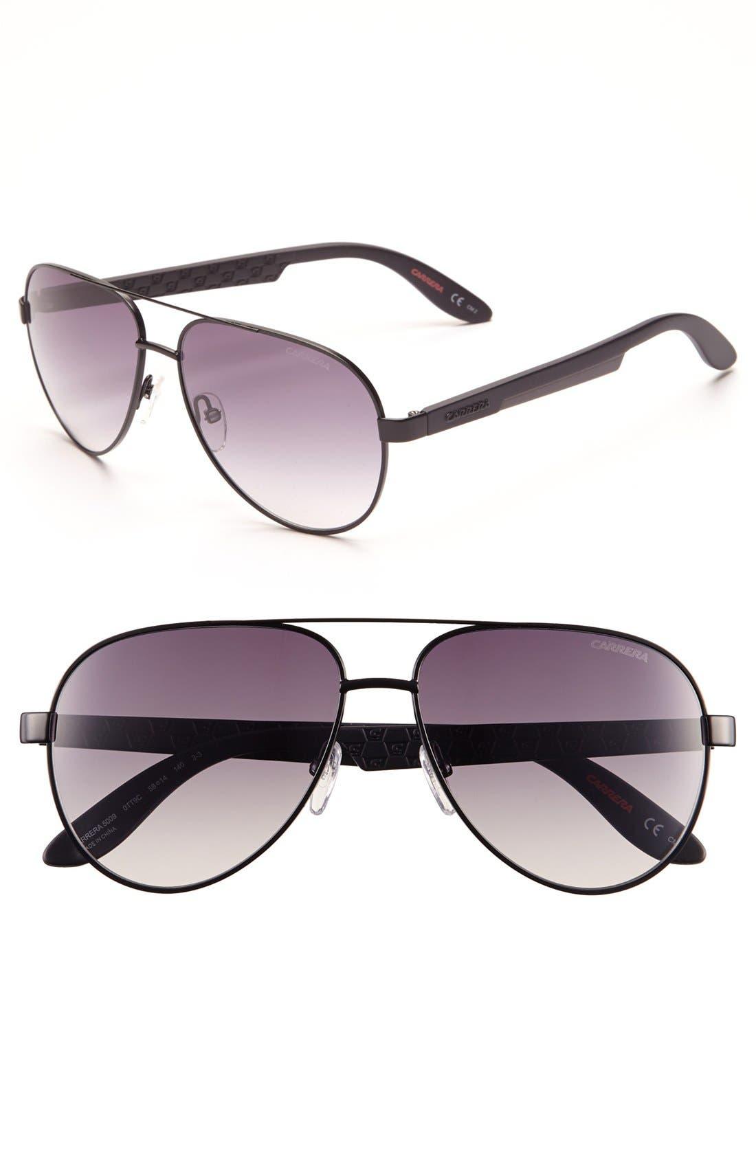 Main Image - Carrera Eyewear 58mm Aviator Sunglasses