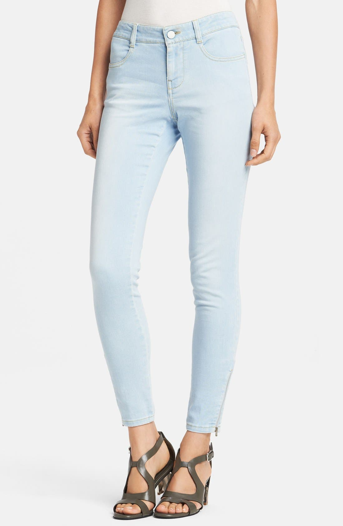 Alternate Image 1 Selected - Stella McCartney 'Jessica' Skinny Ankle Zip Jeans