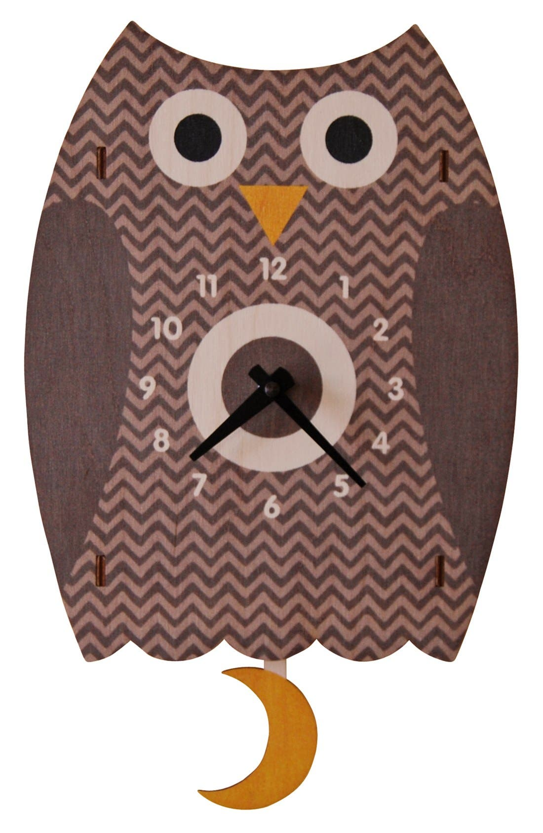 Alternate Image 1 Selected - Modern Moose 'Owl' Pendulum Clock
