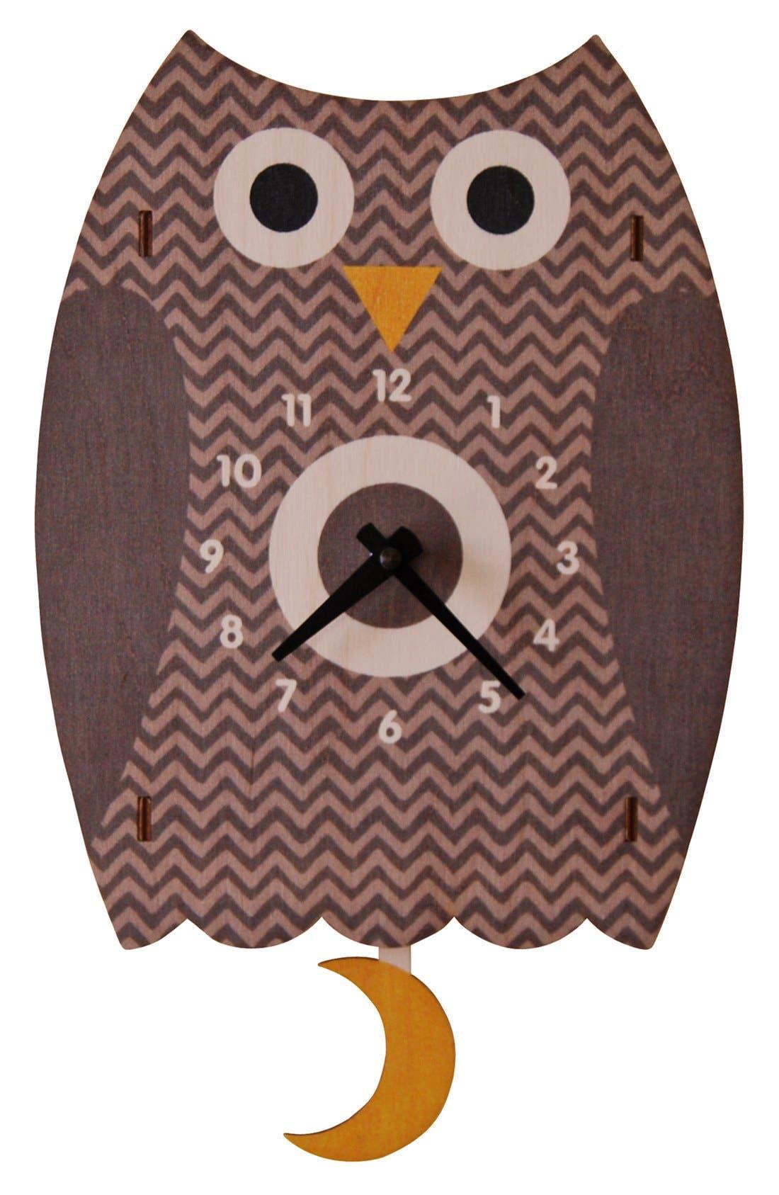 Main Image - Modern Moose 'Owl' Pendulum Clock
