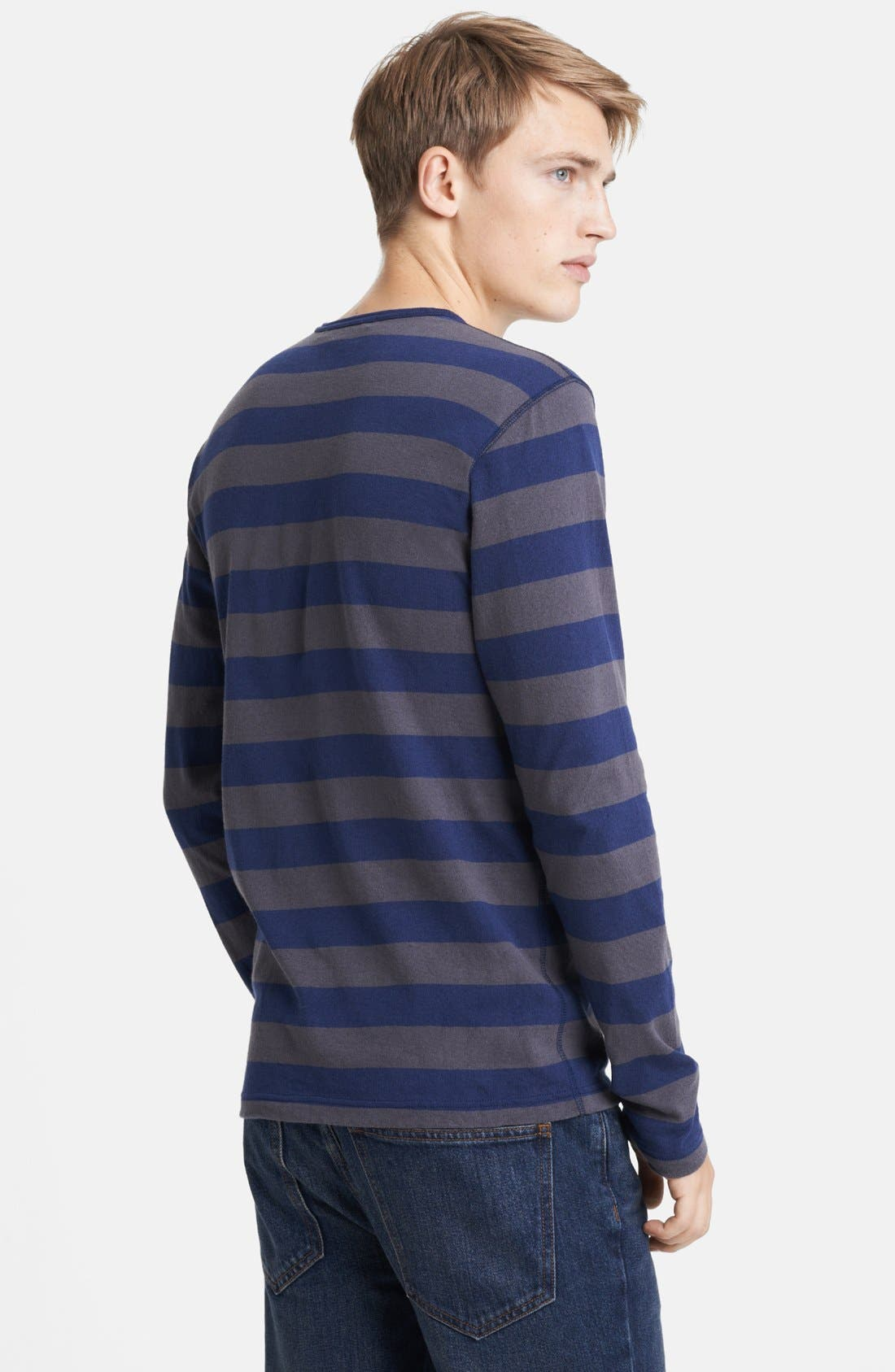 Alternate Image 2  - Junya Watanabe Stripe Jersey Cotton Long Sleeve T-Shirt
