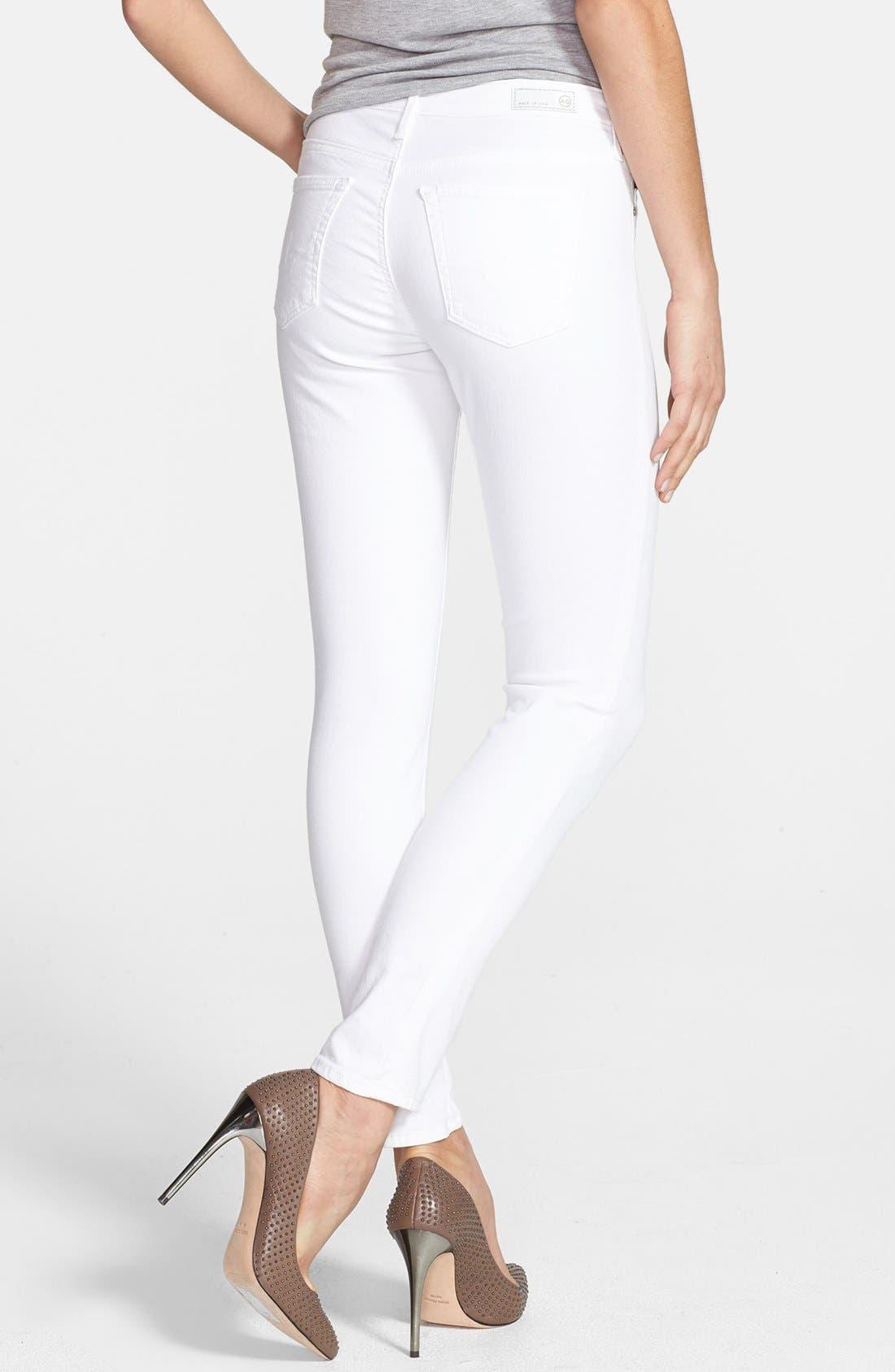 Alternate Image 2  - AG 'The Legging' Ankle Skinny Jeans (White White)