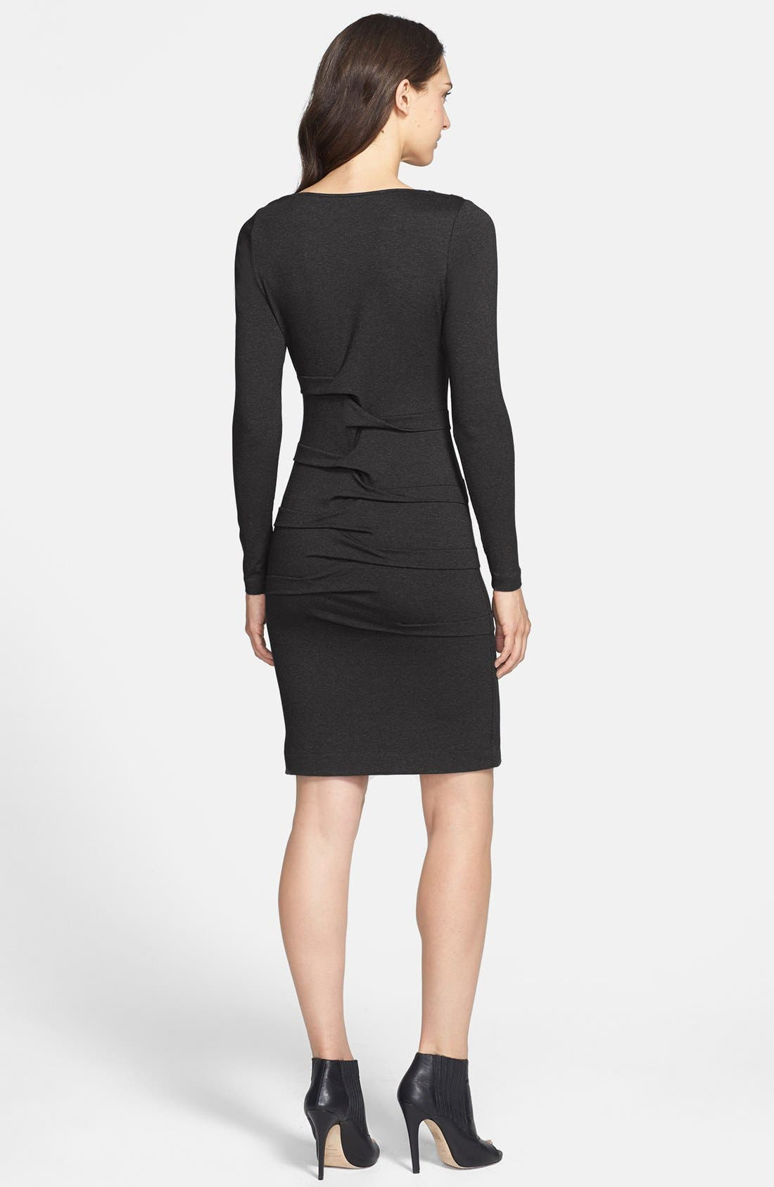Alternate Image 3  - Nicole Miller Ruched Jersey Body-Con Dress