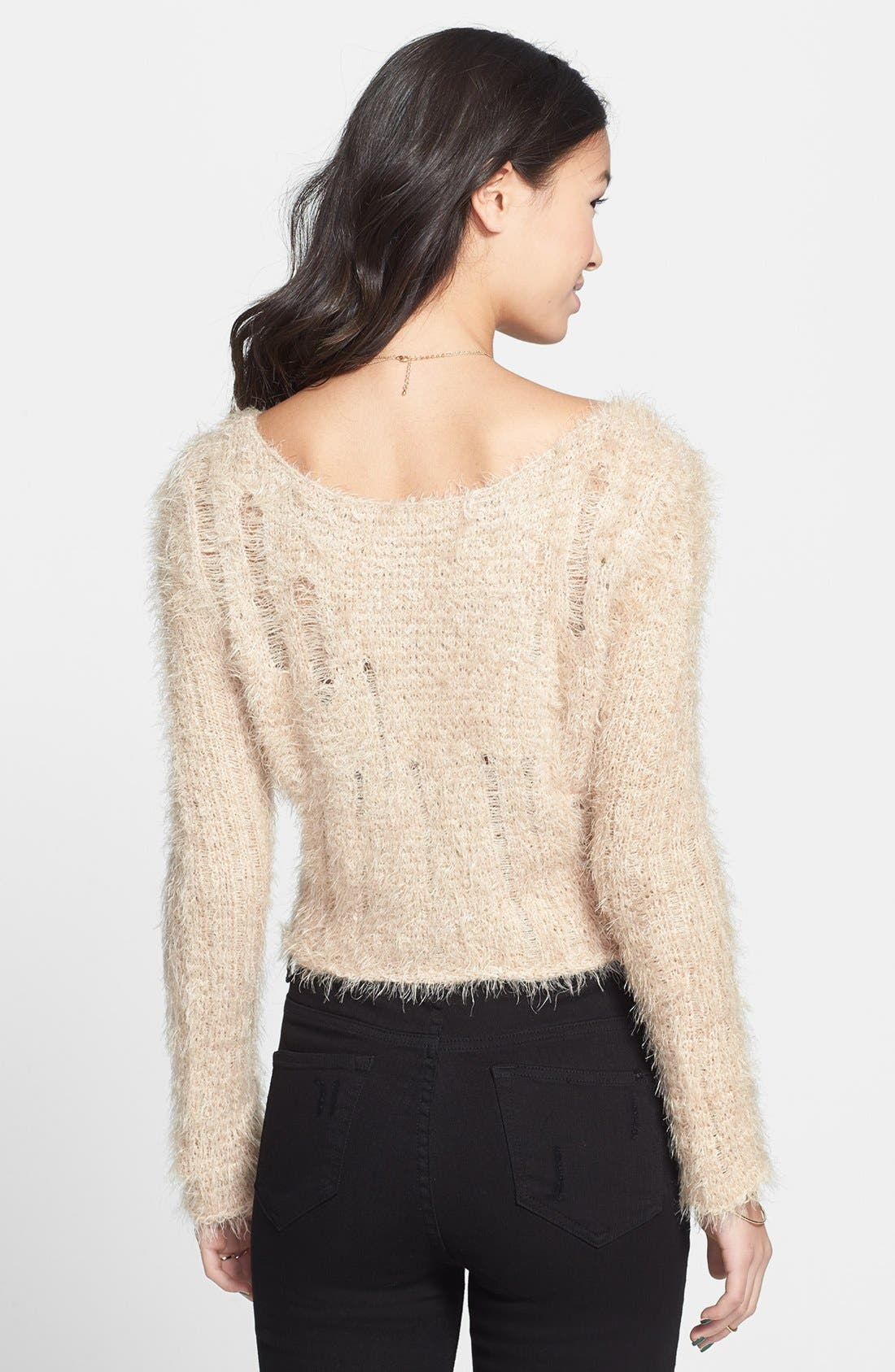 Alternate Image 2  - BP. Fuzzy Crop Sweater (Juniors)