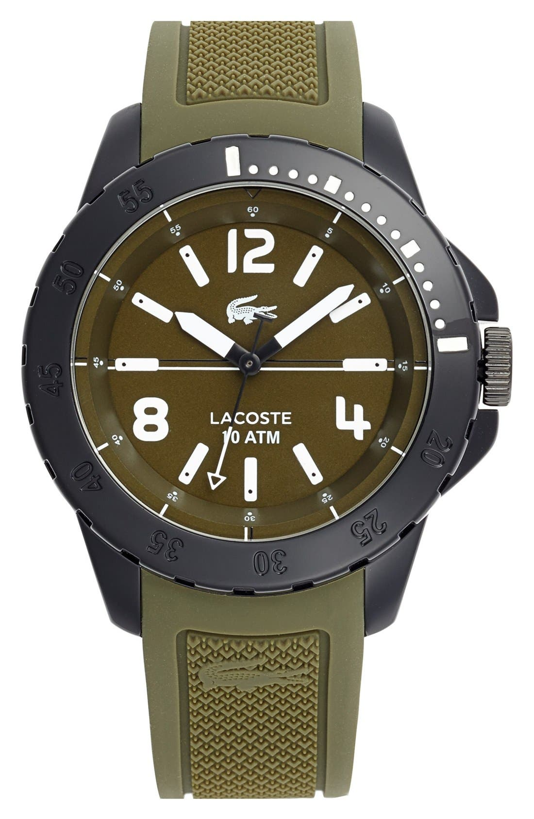 Main Image - Lacoste 'Fiji' Silicone Strap Watch, 46mm