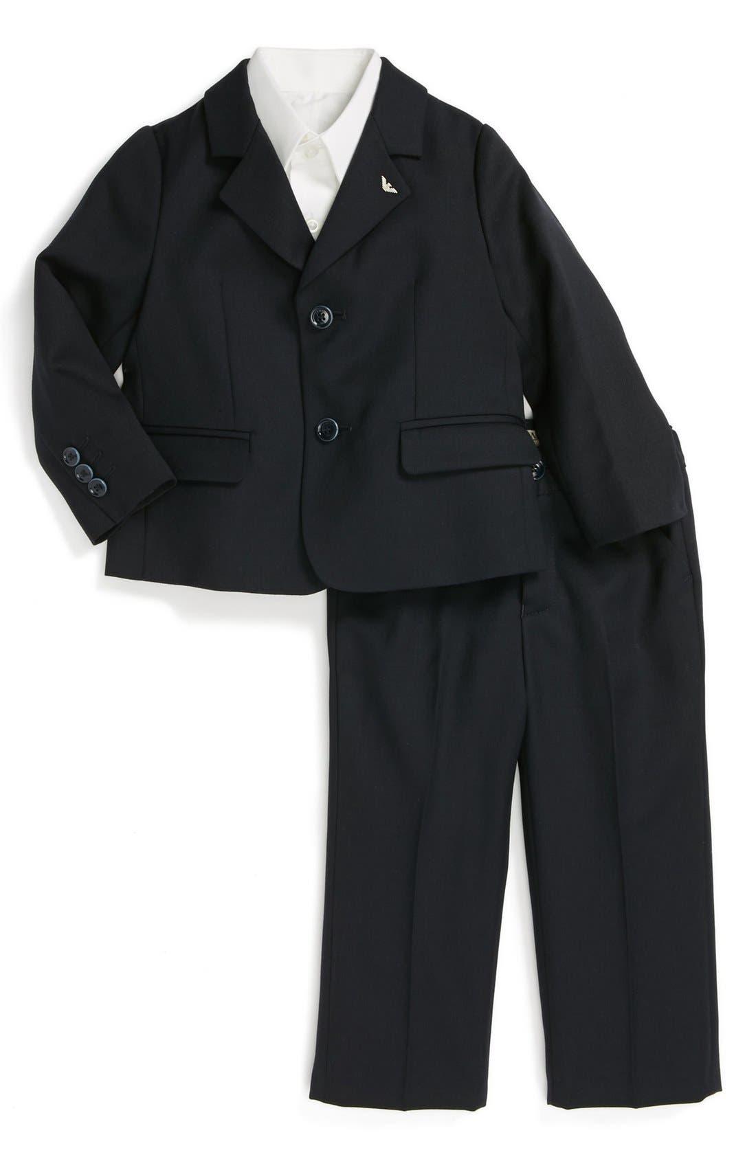 Alternate Image 1 Selected - Armani Junior Wool Suit (Baby Boys)