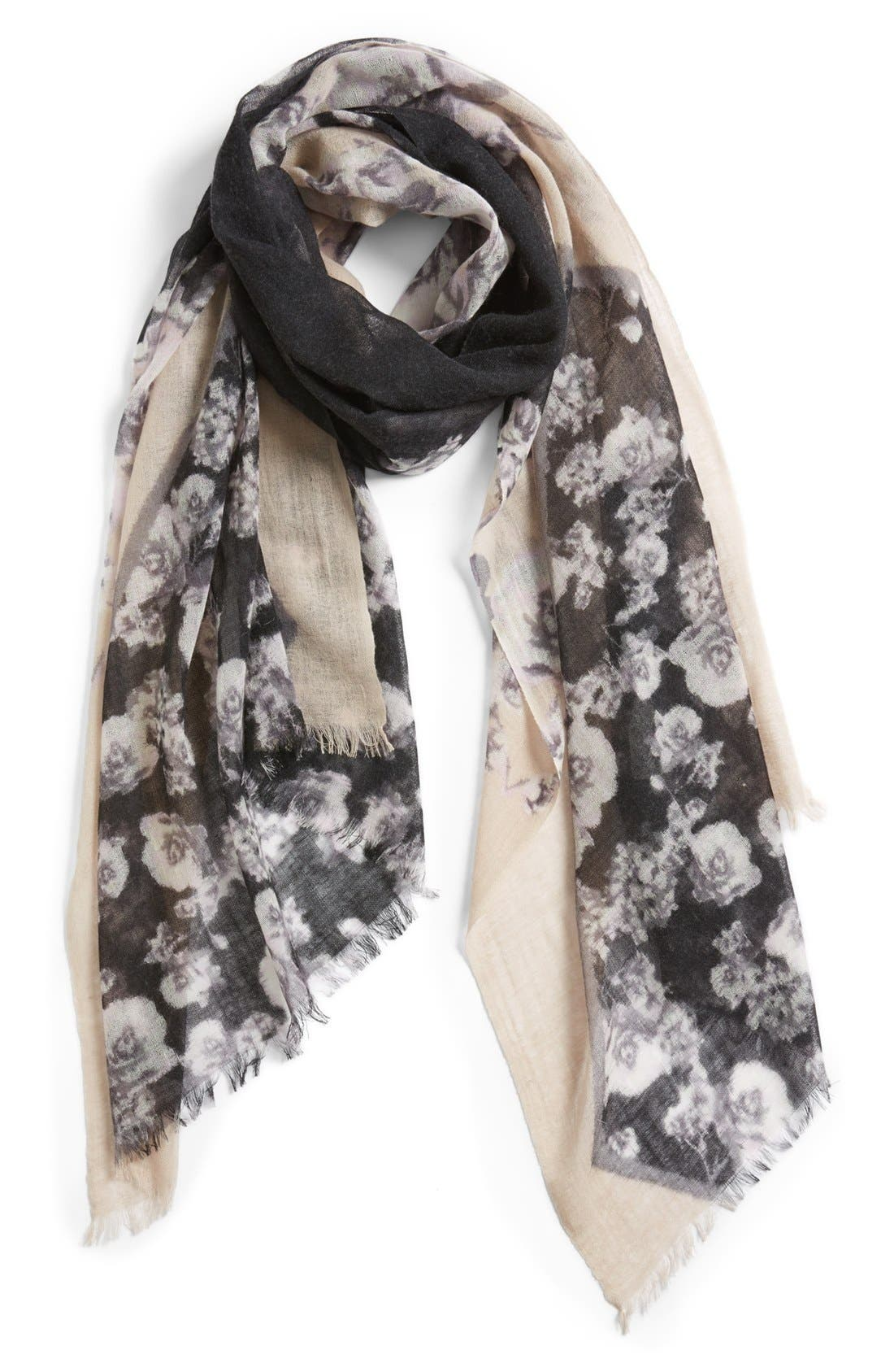 Alternate Image 1 Selected - Nordstrom 'Coming Up Roses' Scarf