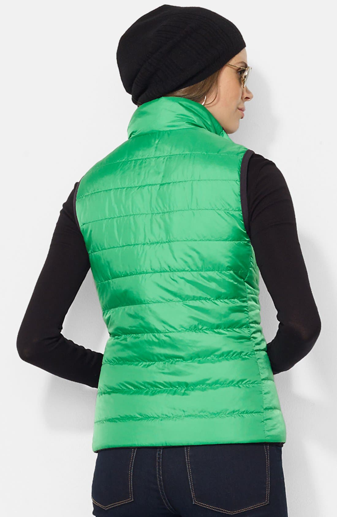 Alternate Image 3  - Lauren Ralph Lauren 'Vashya' Puffer Vest (Petite)
