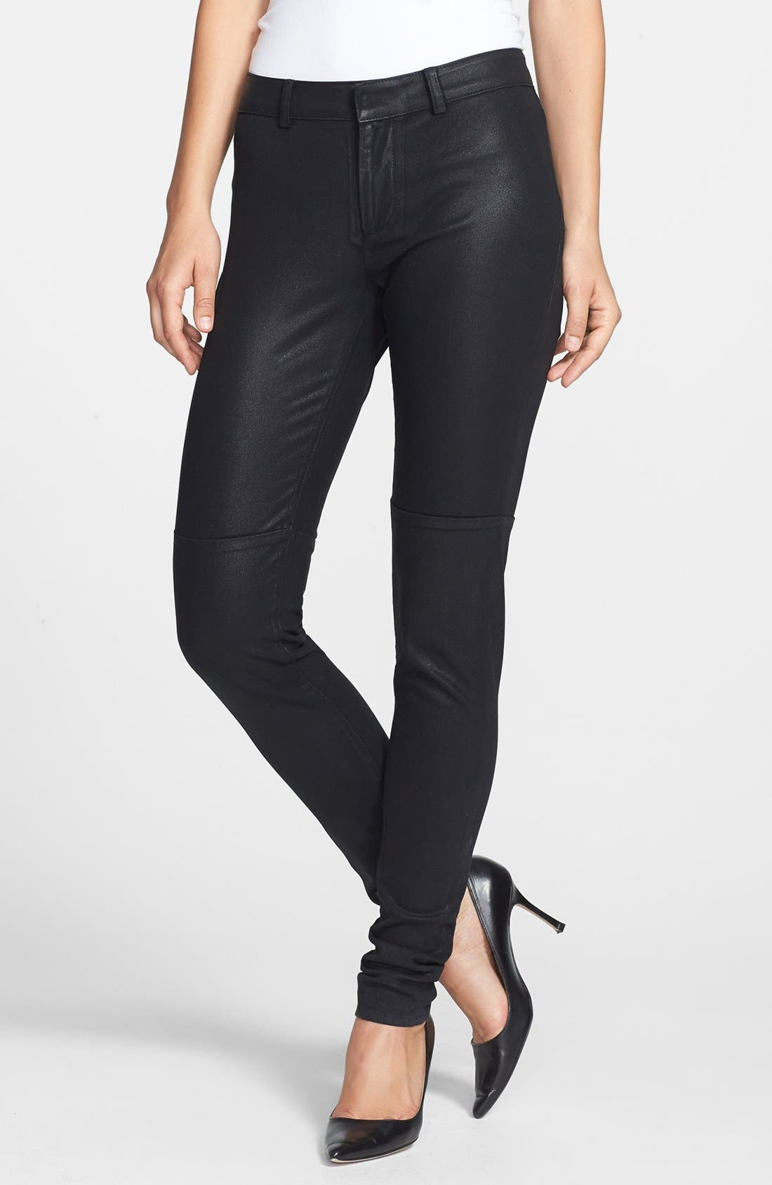 Alternate Image 1 Selected - Rachel Roy Coated Skinny Pants